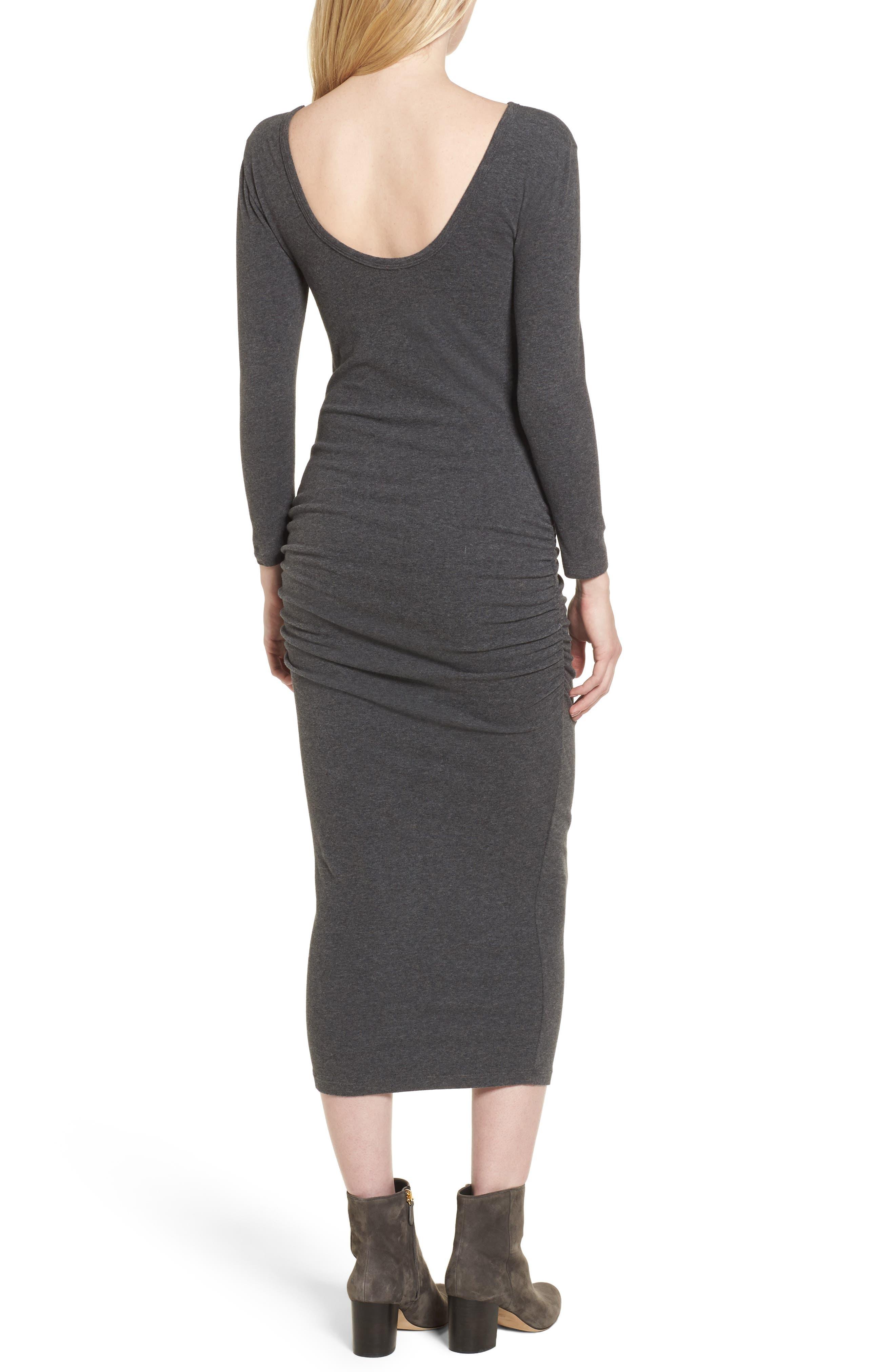 Scoop Back Knit Dress,                             Alternate thumbnail 4, color,