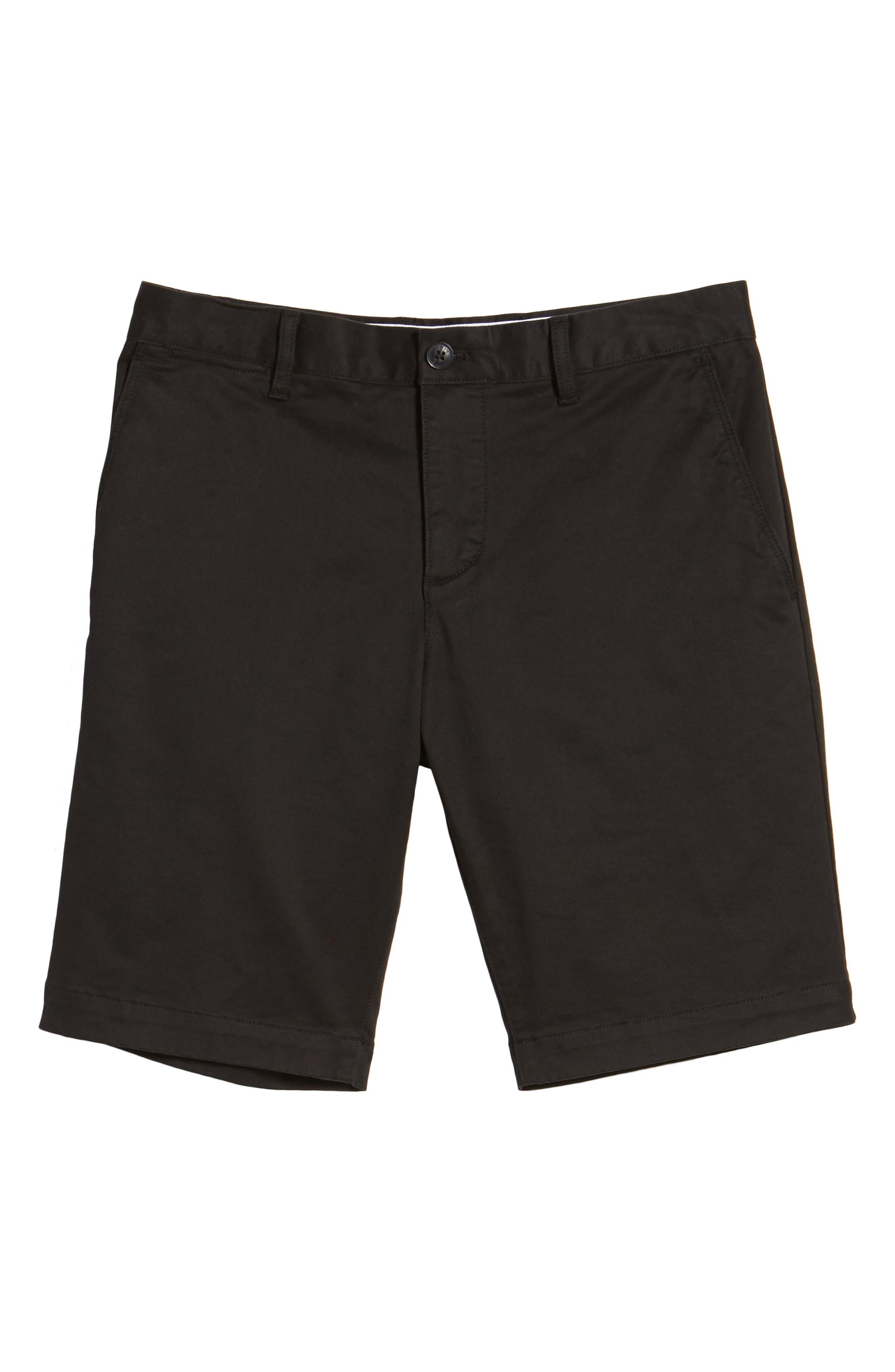 Slim Fit Chino Shorts,                             Alternate thumbnail 6, color,                             001