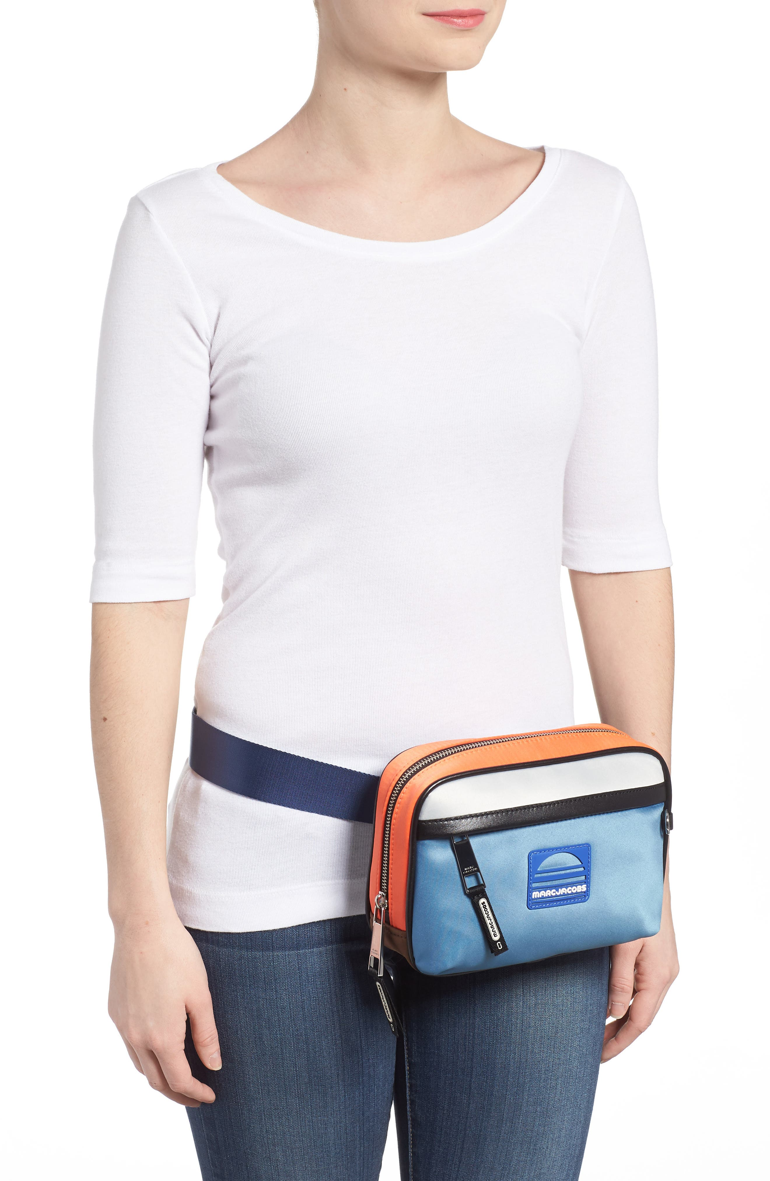 Sport Colorblock Belt Bag,                             Alternate thumbnail 5, color,