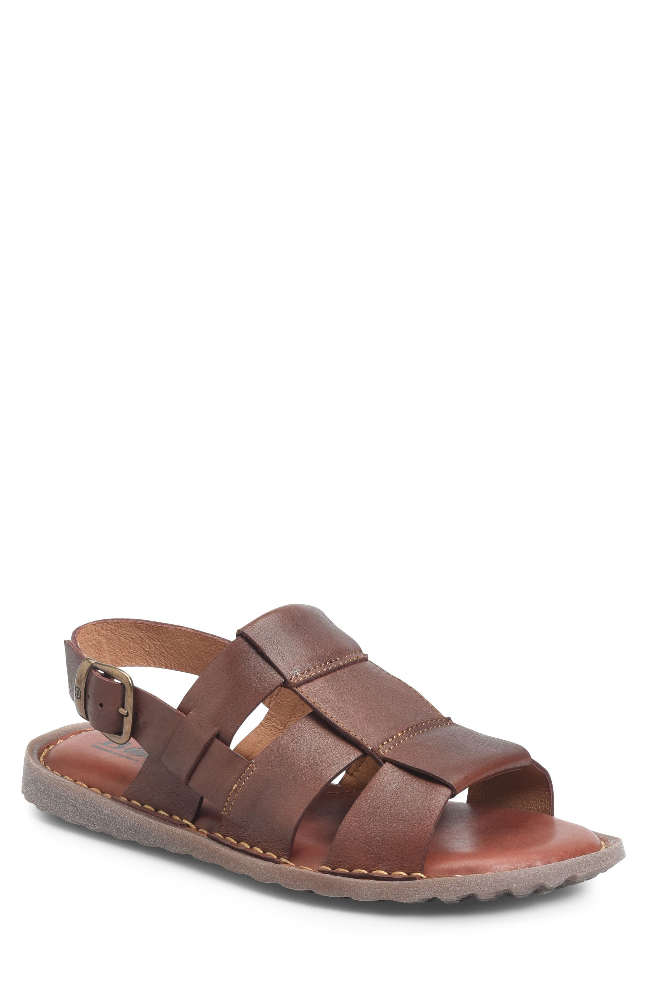 Surf Fisherman Sandal,                         Main,                         color, BROWN LEATHER