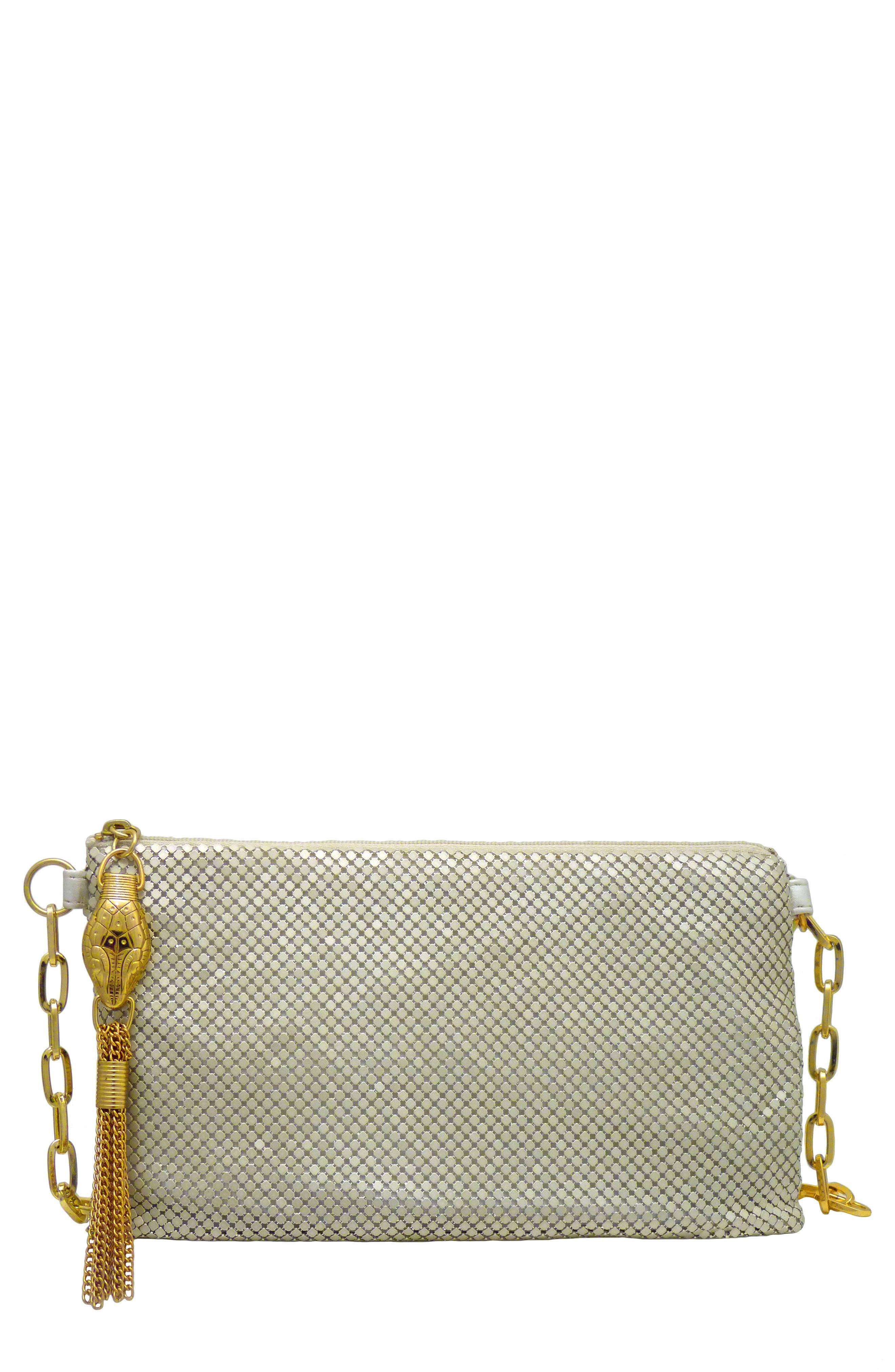 Snakehead Mesh Belt Bag - Metallic in Pearl