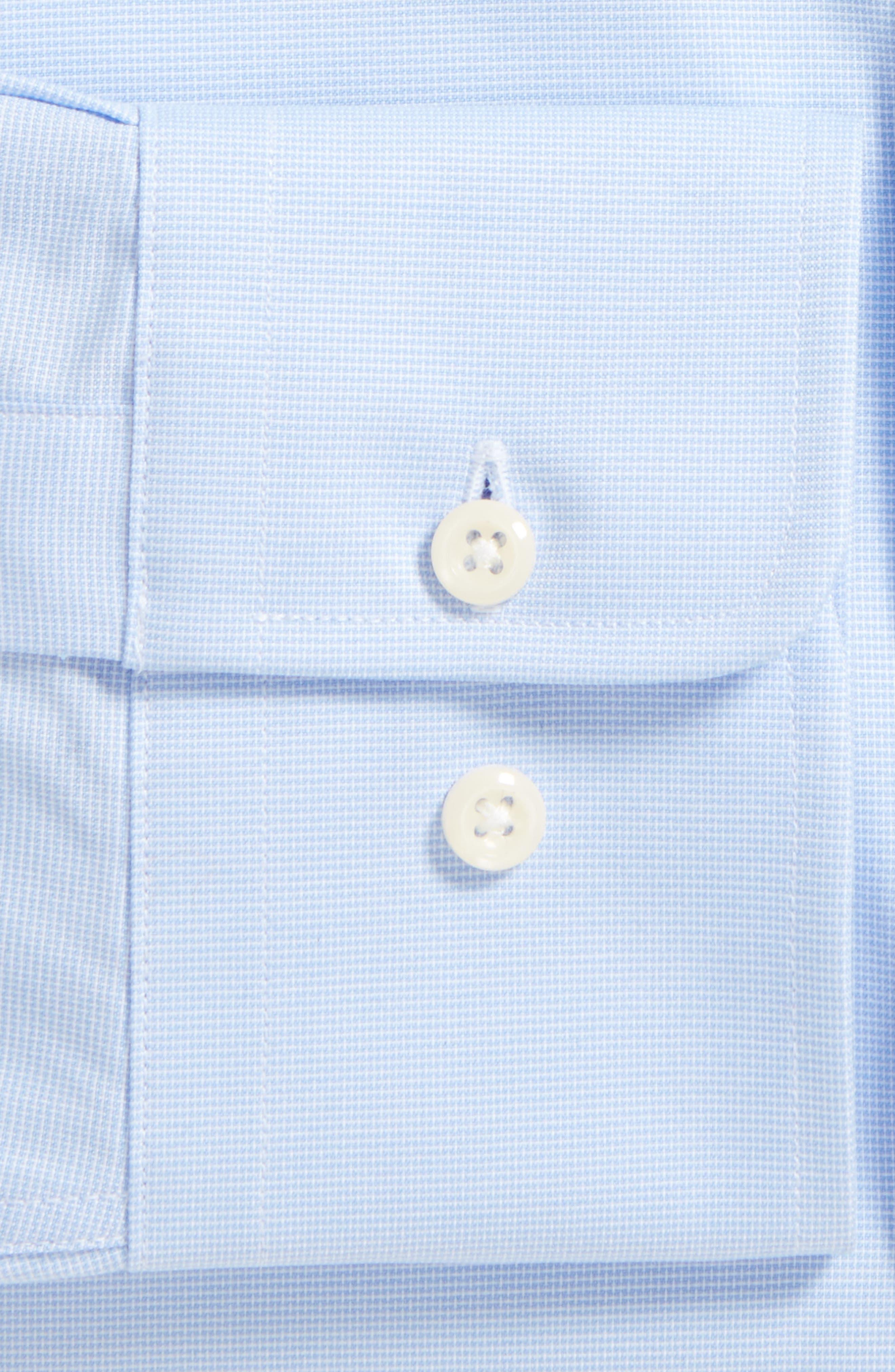 DAVID DONAHUE,                             Slim Fit Solid Dress Shirt,                             Alternate thumbnail 4, color,                             SKY