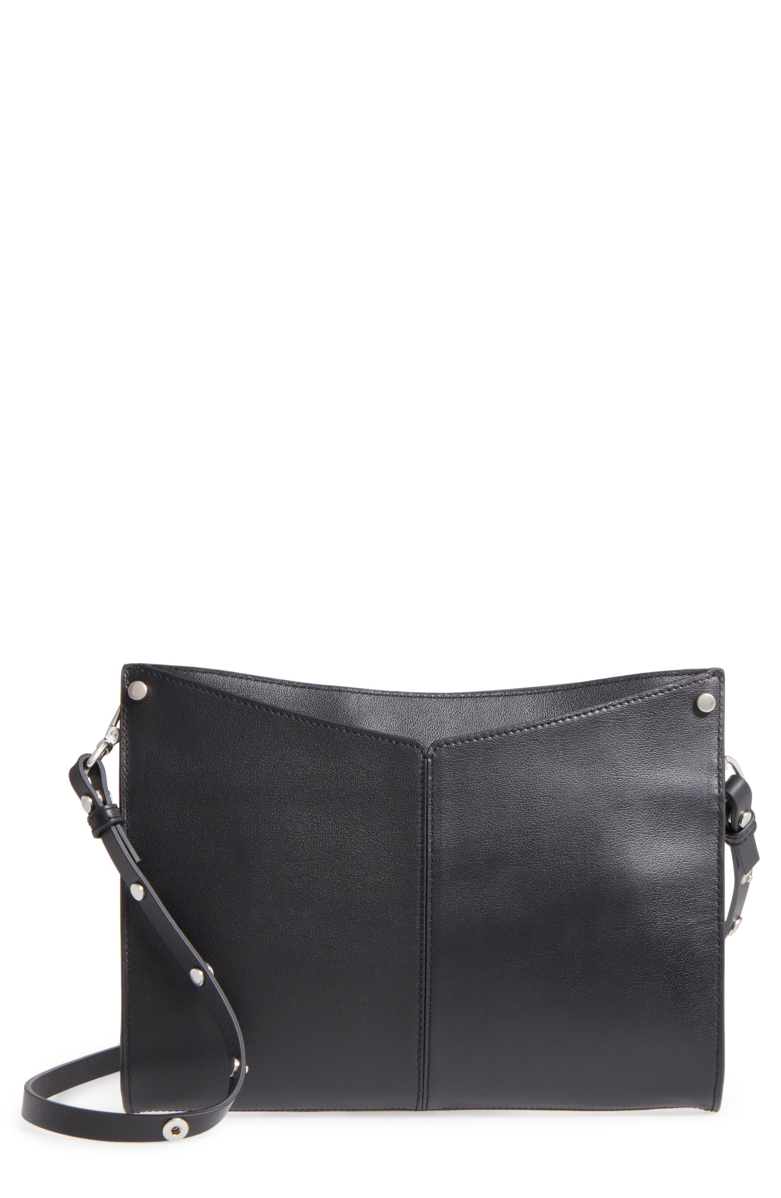 Harrison Leather Crossbody Bag,                         Main,                         color, 001