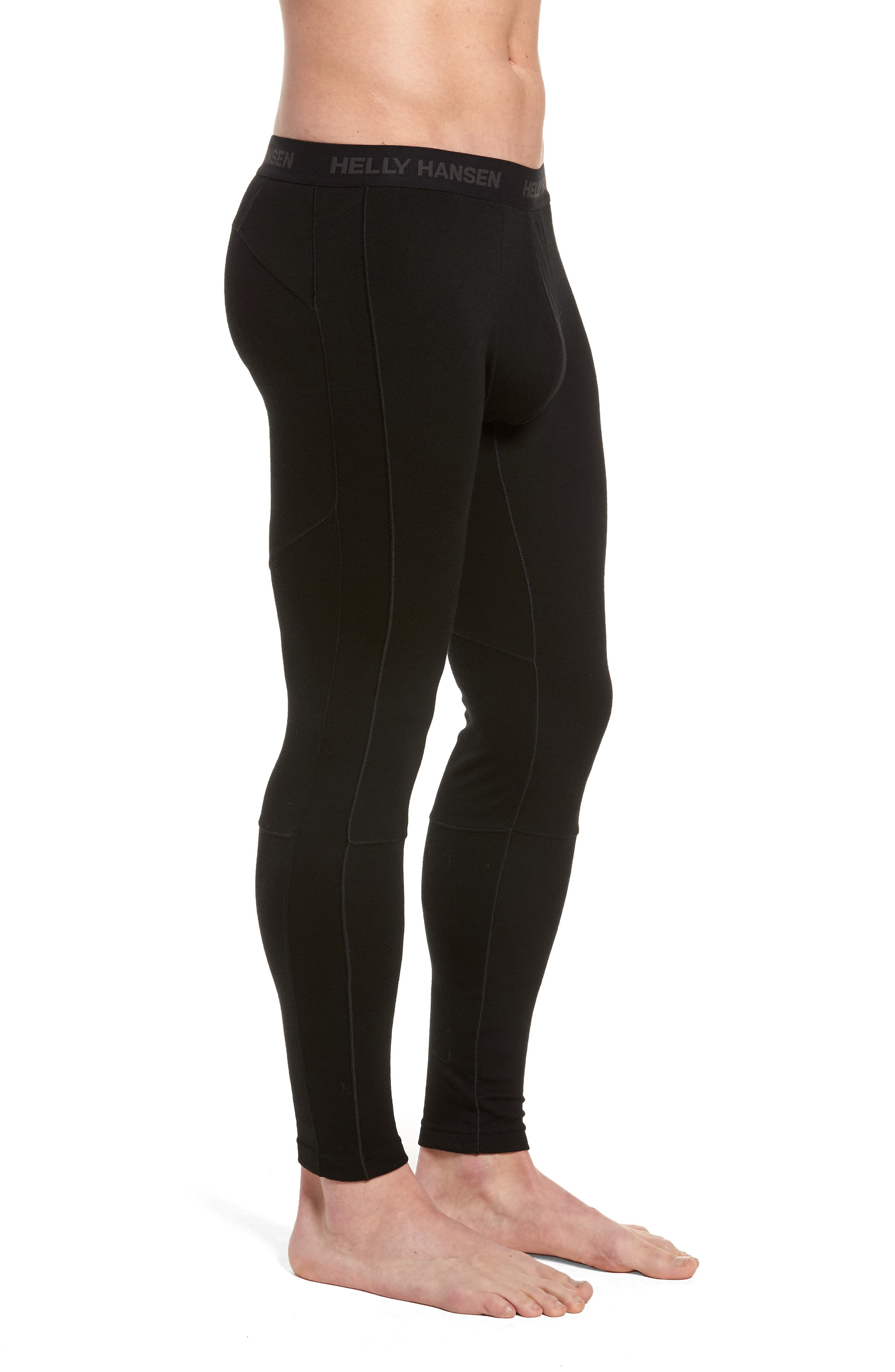 Lifa Merino Wool Blend Tights,                             Alternate thumbnail 3, color,                             BLACK