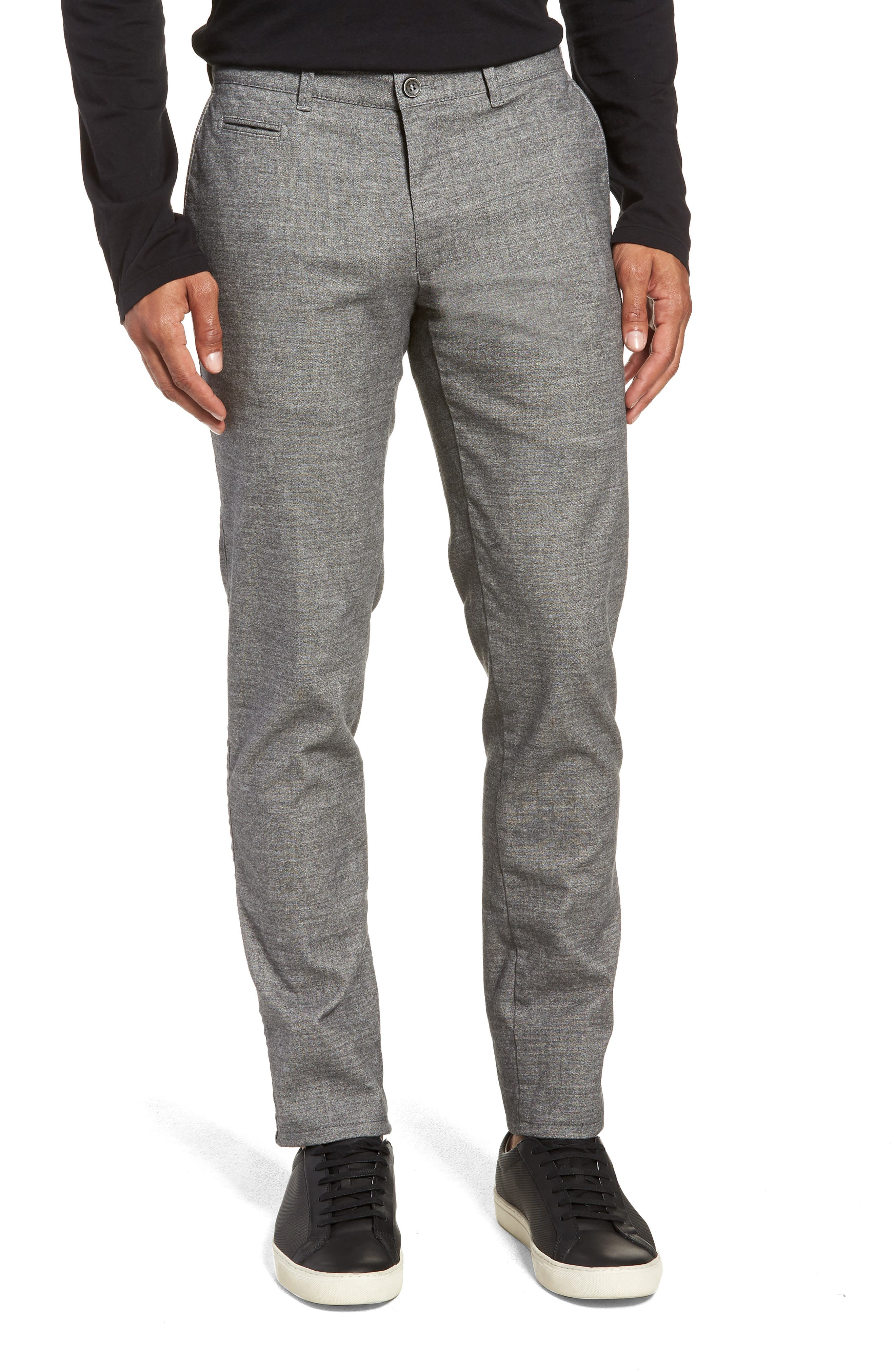 Woolook Slim Fit Flat Front Pants,                         Main,                         color, SILVER