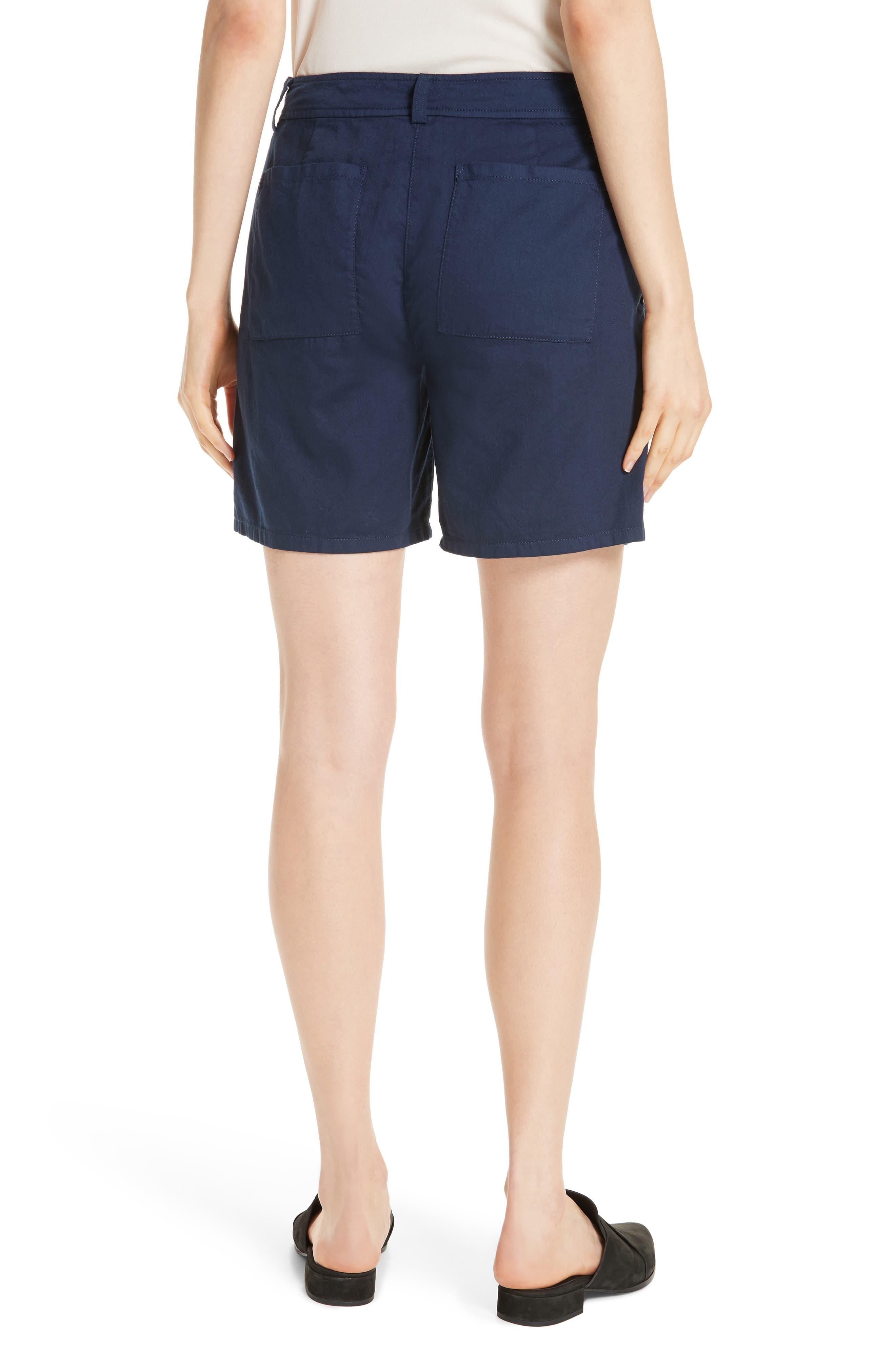 Organic Cotton Walking Shorts,                             Alternate thumbnail 2, color,                             INDIGO