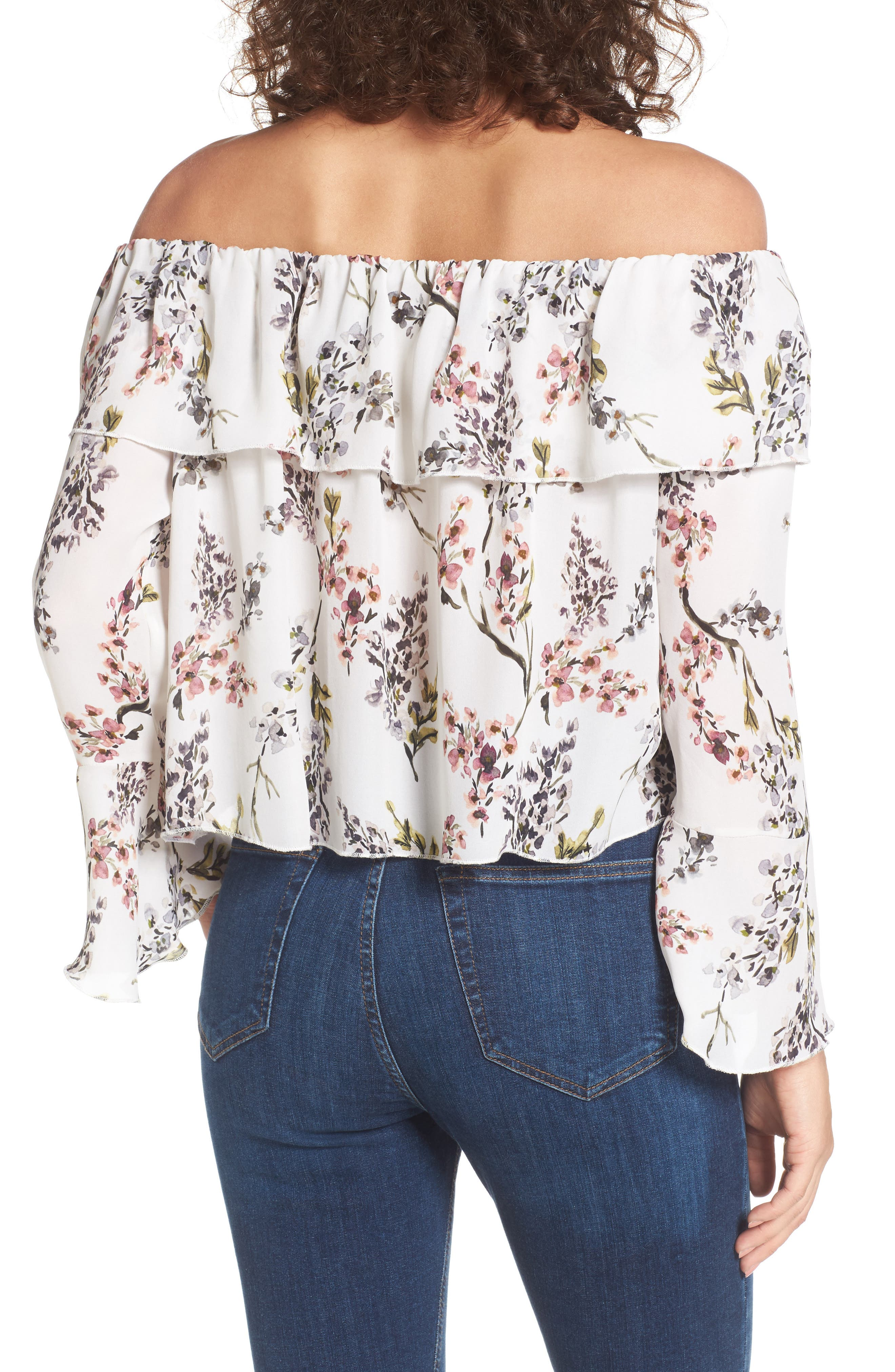 Kennedy Off the Shoulder Blouse,                             Alternate thumbnail 3, color,
