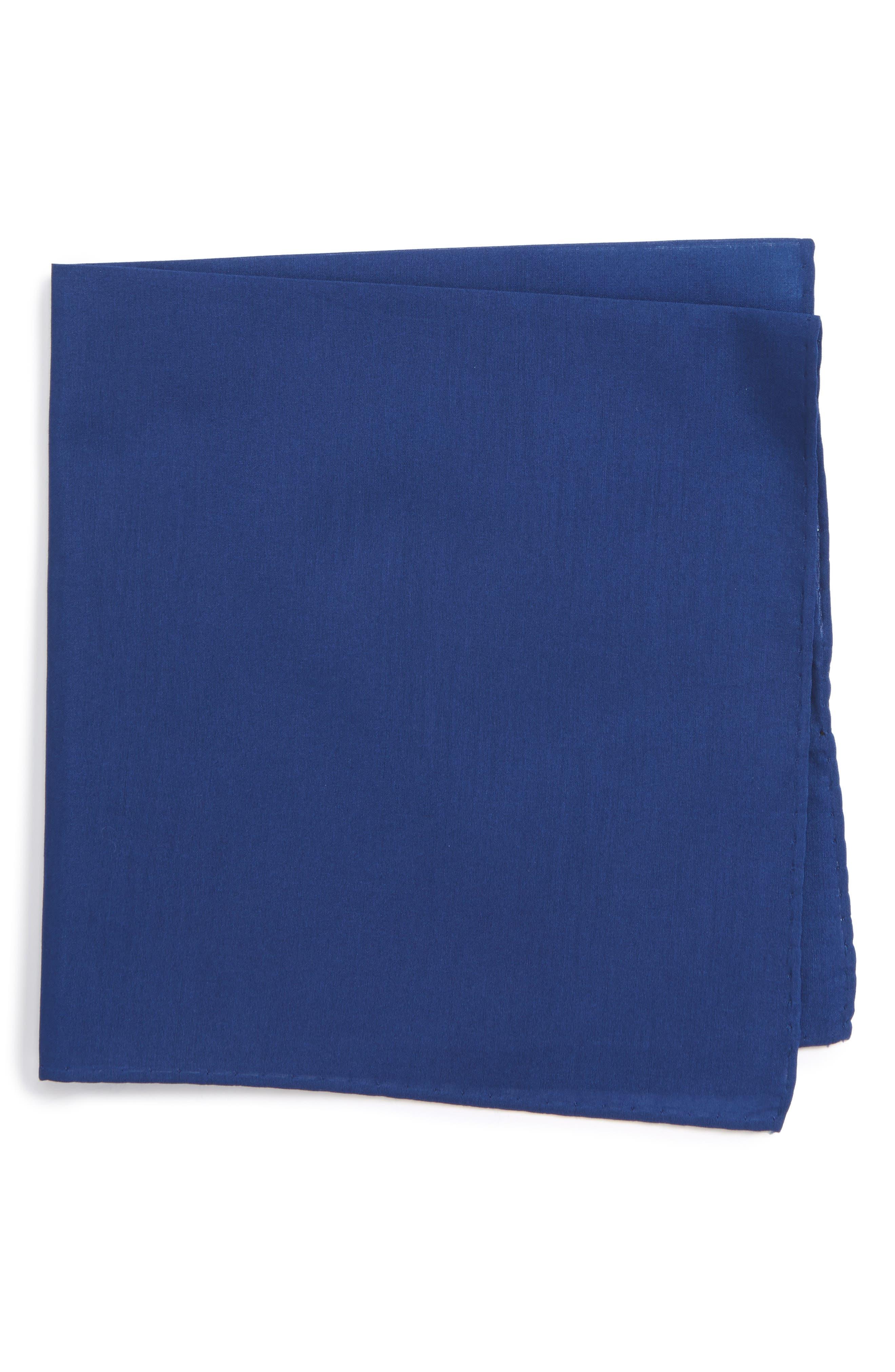 Solid Cotton & Silk Pocket Square,                             Main thumbnail 4, color,