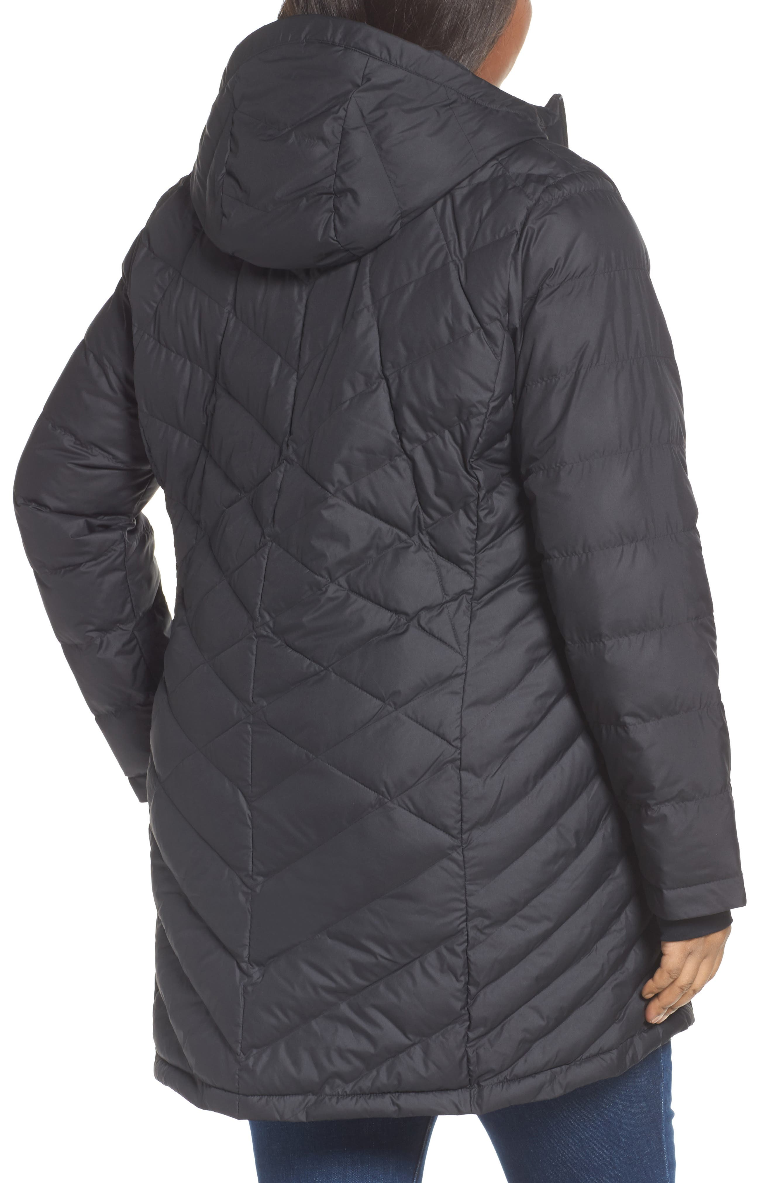 Heavenly Water Resistant Insulated Long Hooded Jacket,                             Alternate thumbnail 2, color,                             010