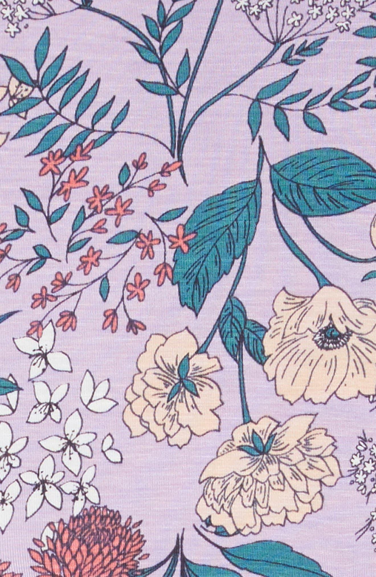 Candice Floral Dress,                             Alternate thumbnail 3, color,                             PURPLE
