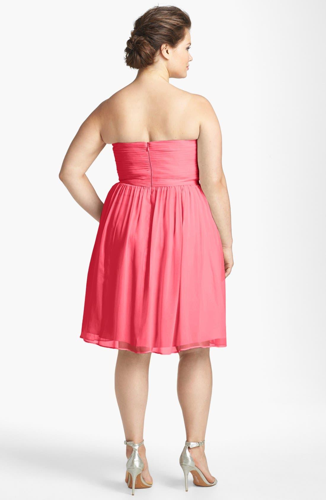 'Morgan' Strapless Silk Chiffon Dress,                             Alternate thumbnail 65, color,