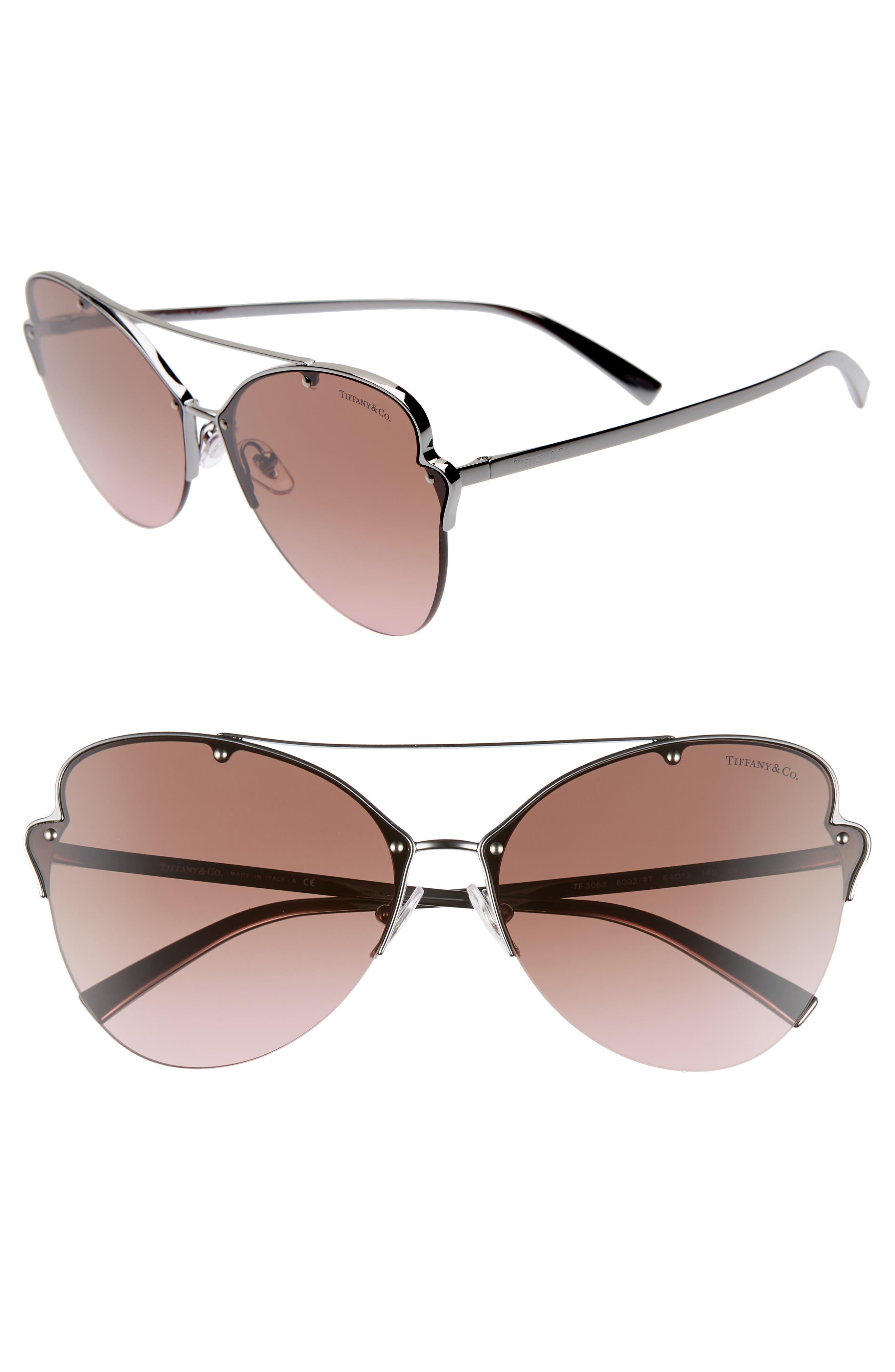 224718f3b5 Women s Tiffany   Co. 64Mm Oversize Butterfly Sunglasses - Gunmetal Gradient