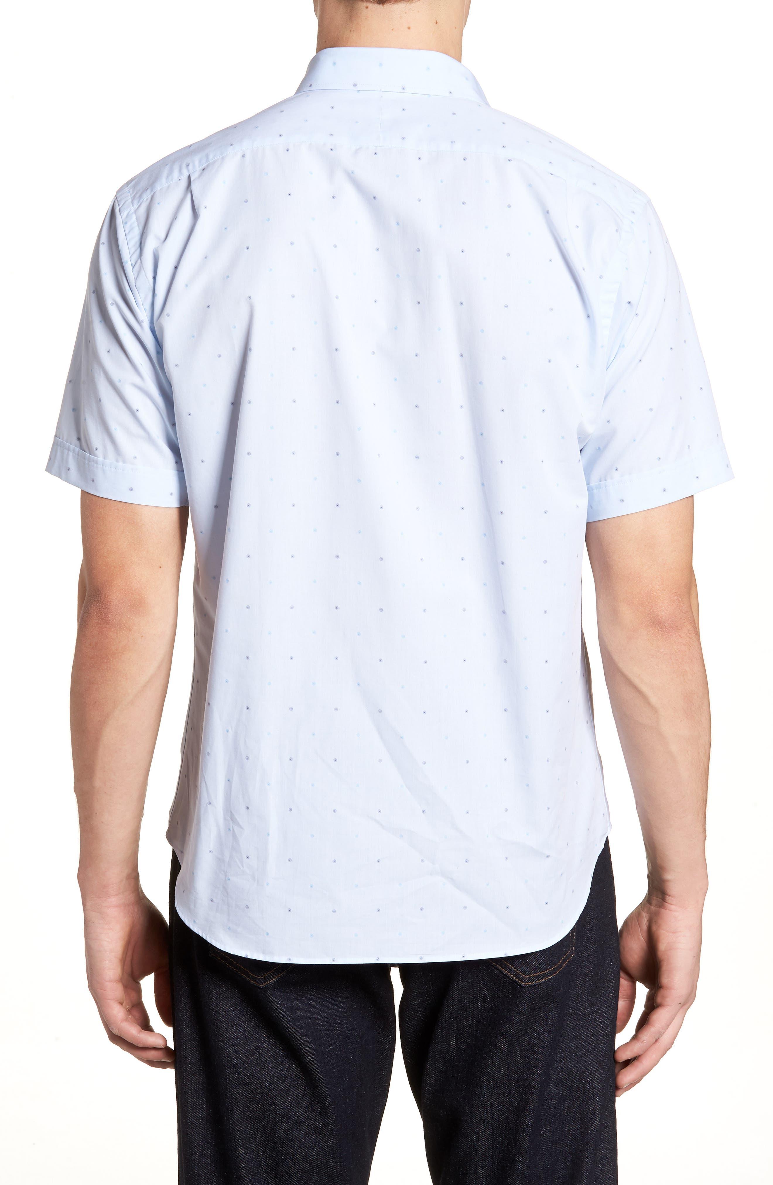 Regular Fit Dot Sport Shirt,                             Alternate thumbnail 2, color,