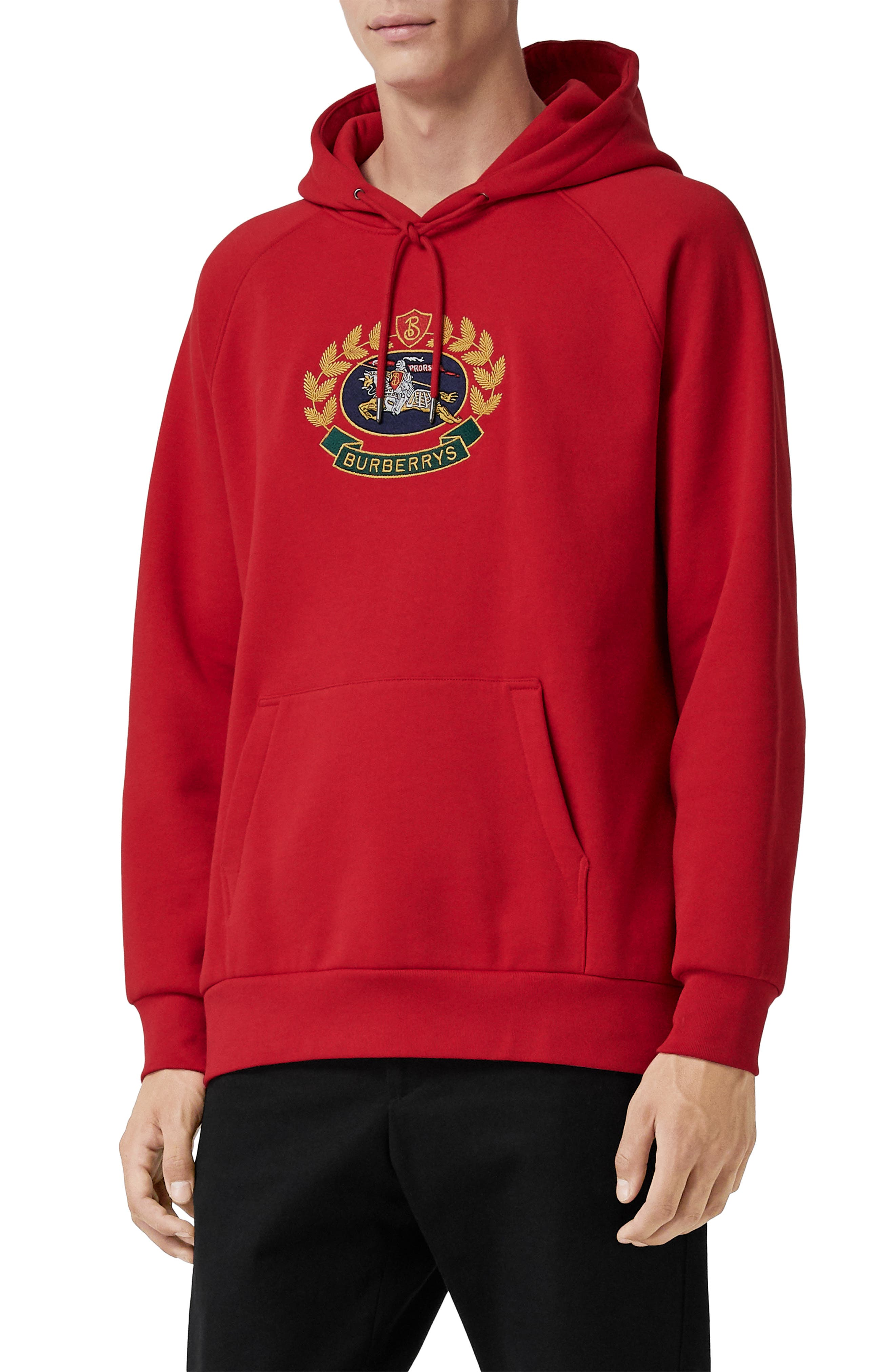 Esker Hoodie,                             Main thumbnail 1, color,                             BRIGHT RED