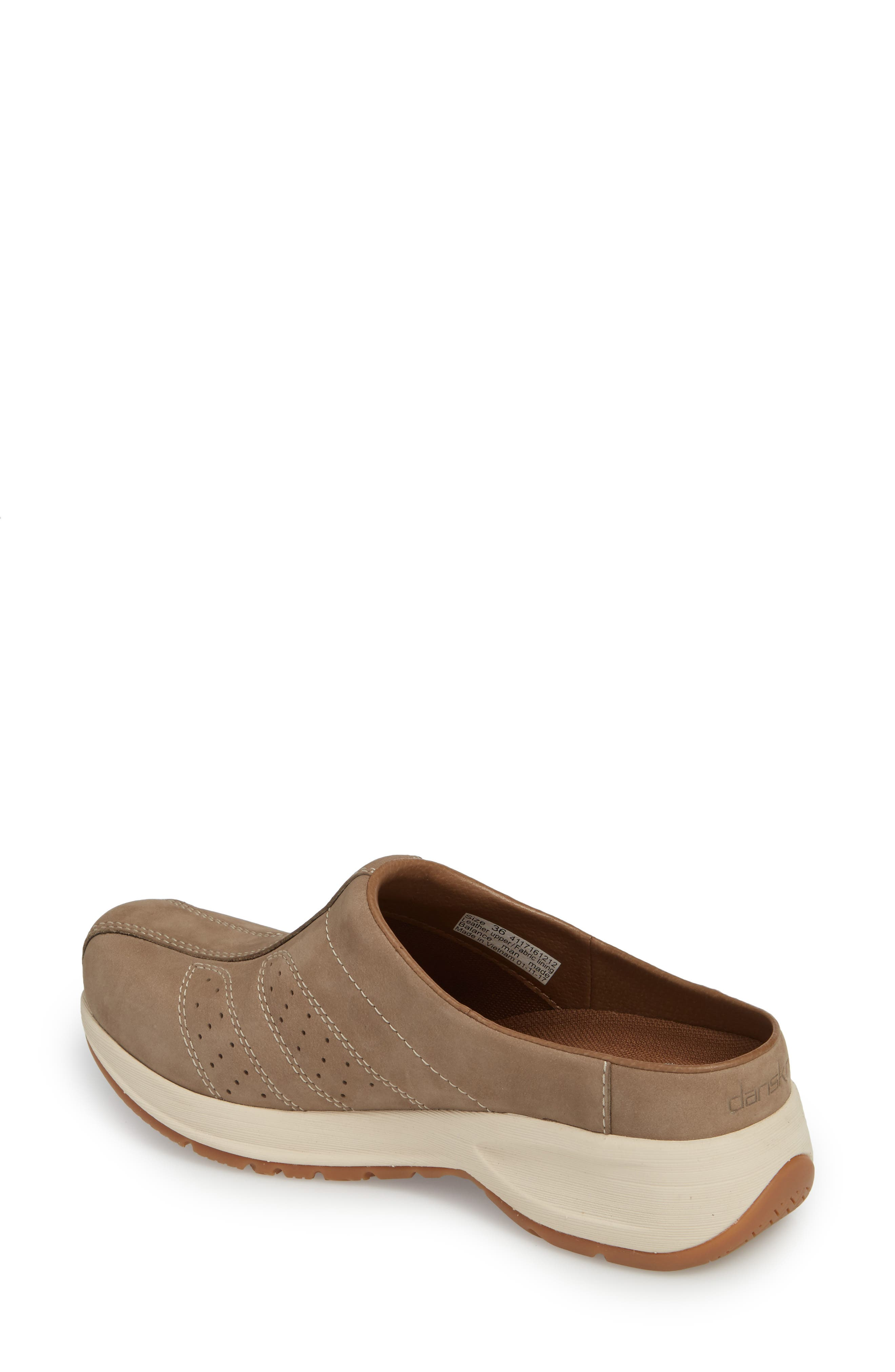 Dankso Shelly Mule,                             Alternate thumbnail 2, color,                             TAUPE MILLED NUBUCK LEATHER