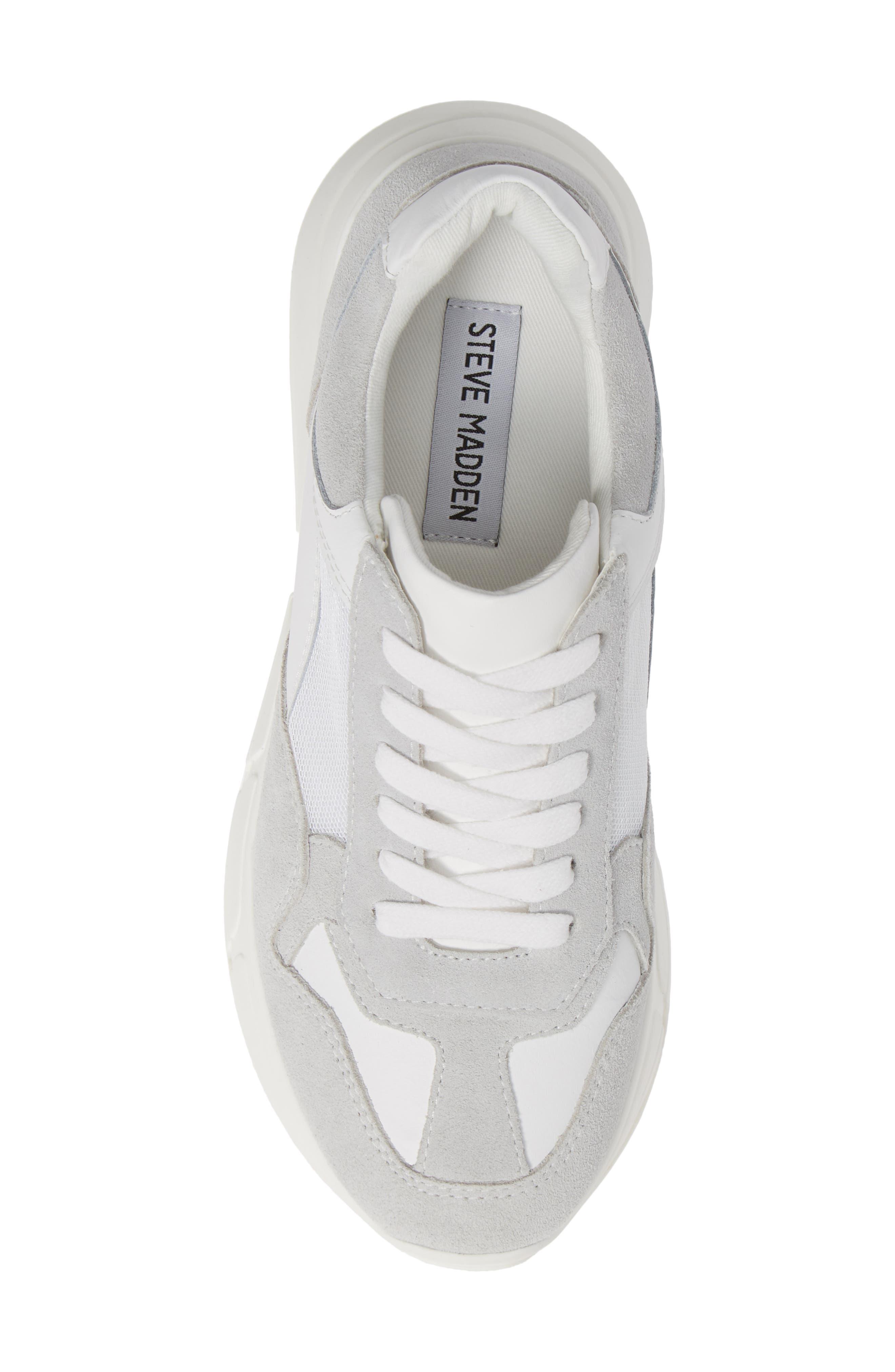 Memory Platform Wedge Sneaker,                             Alternate thumbnail 5, color,                             WHITE MULTI