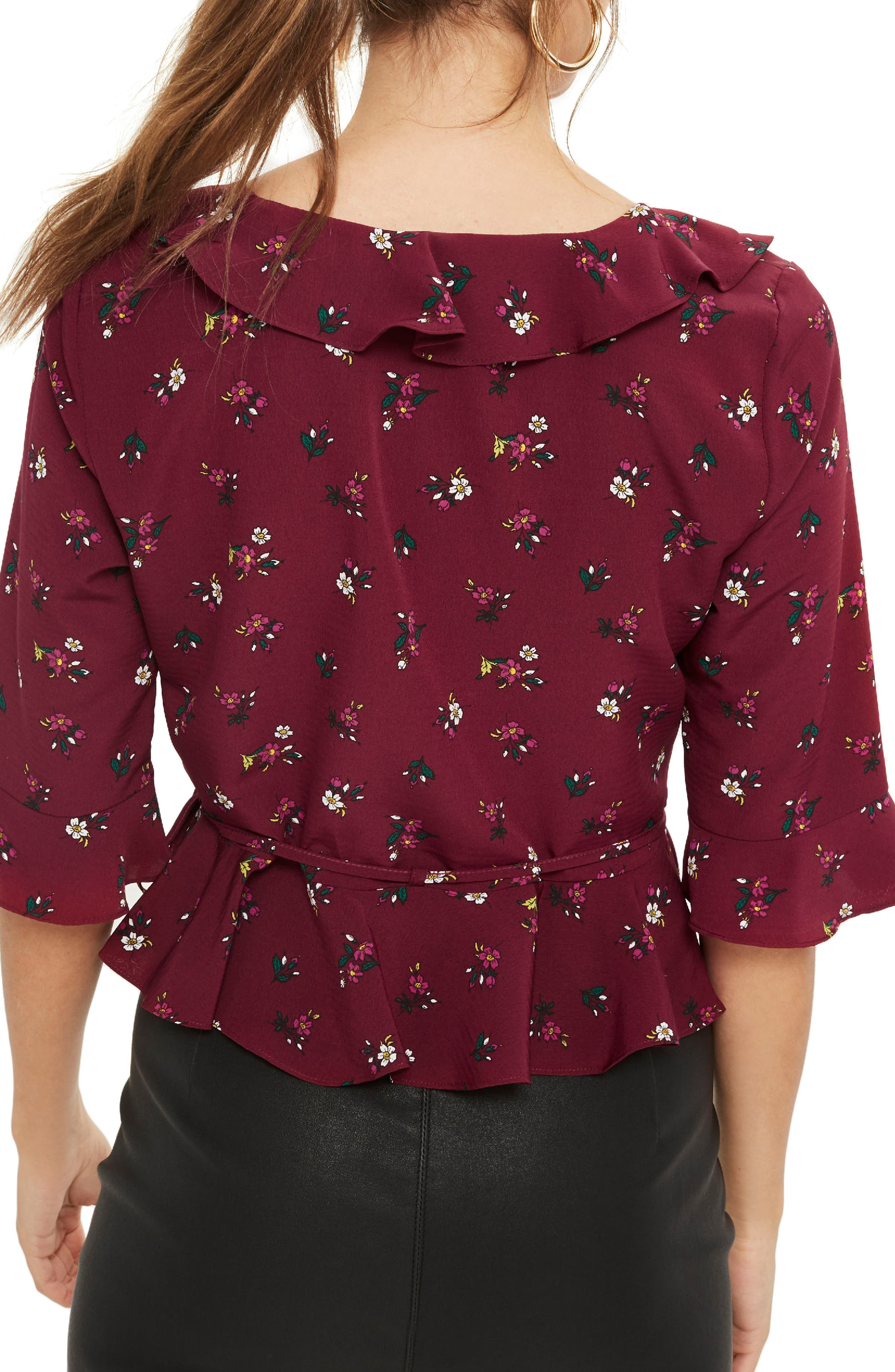 Phoebe Frilly Blouse,                             Alternate thumbnail 14, color,