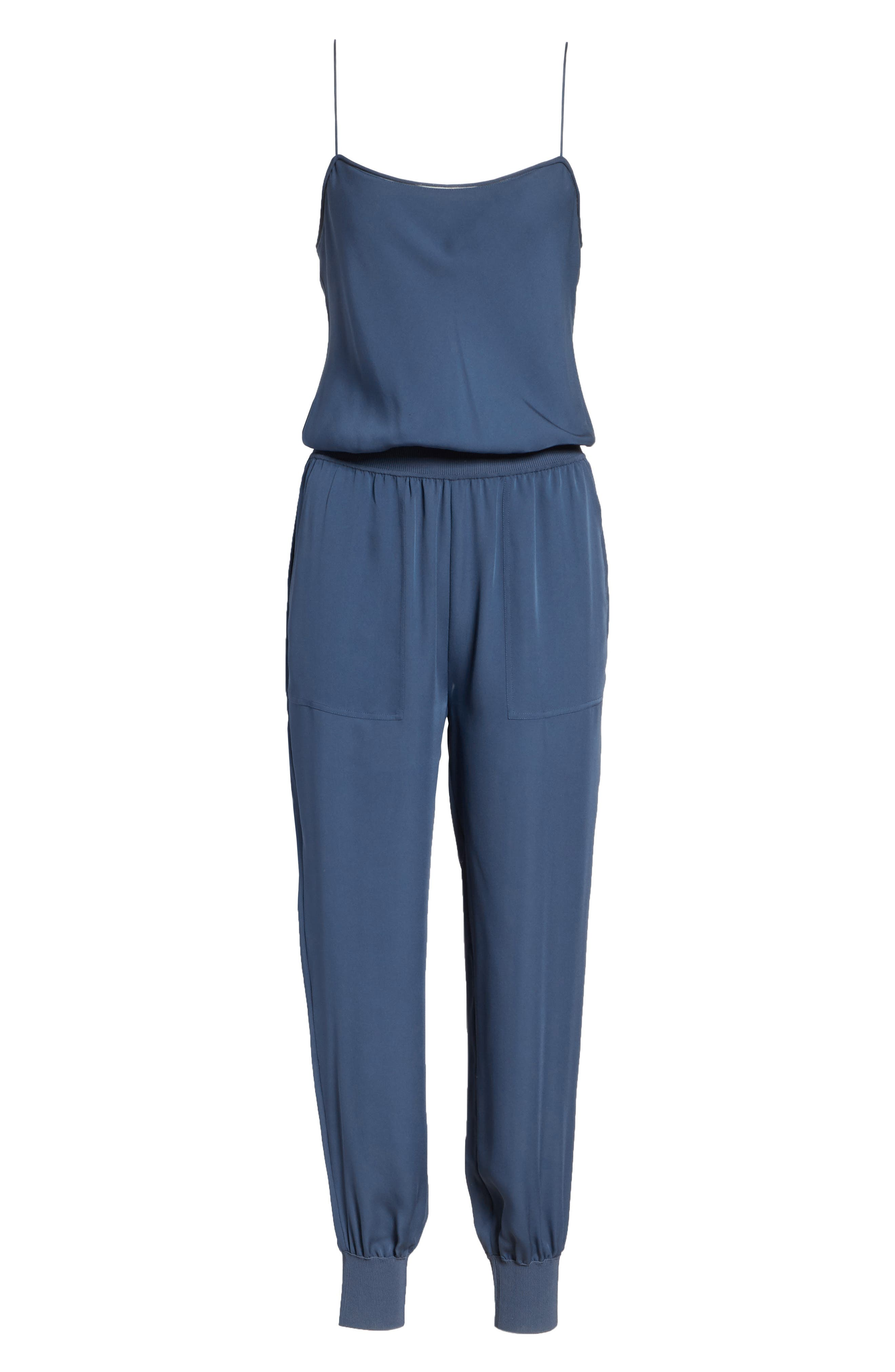 THEORY,                             Silk Romper,                             Alternate thumbnail 6, color,                             457