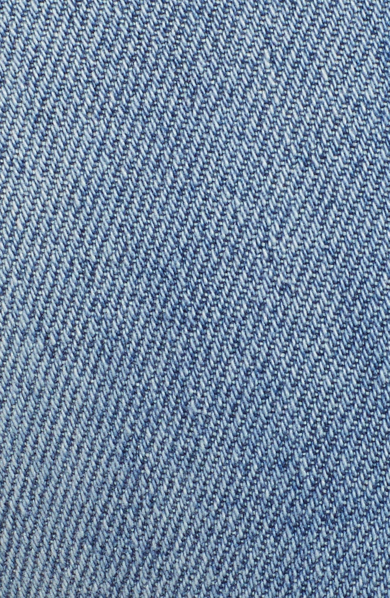 Brie High Waist Ripped Skinny Jeans,                             Alternate thumbnail 6, color,                             BRADFORD LIGHT WASH