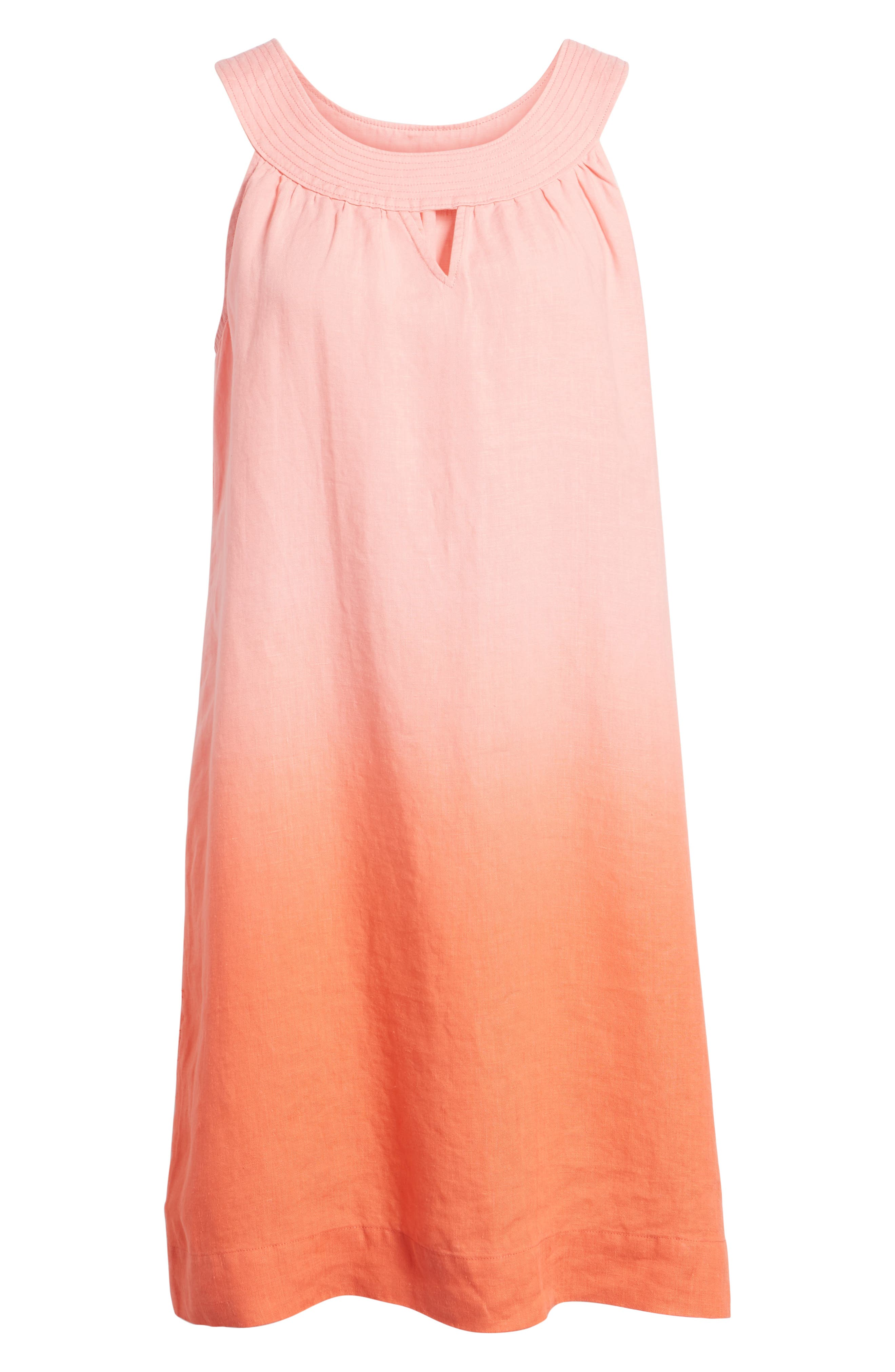 Two Palms Short Sundress,                             Alternate thumbnail 6, color,                             CABANA PINK/ BURNT CORAL