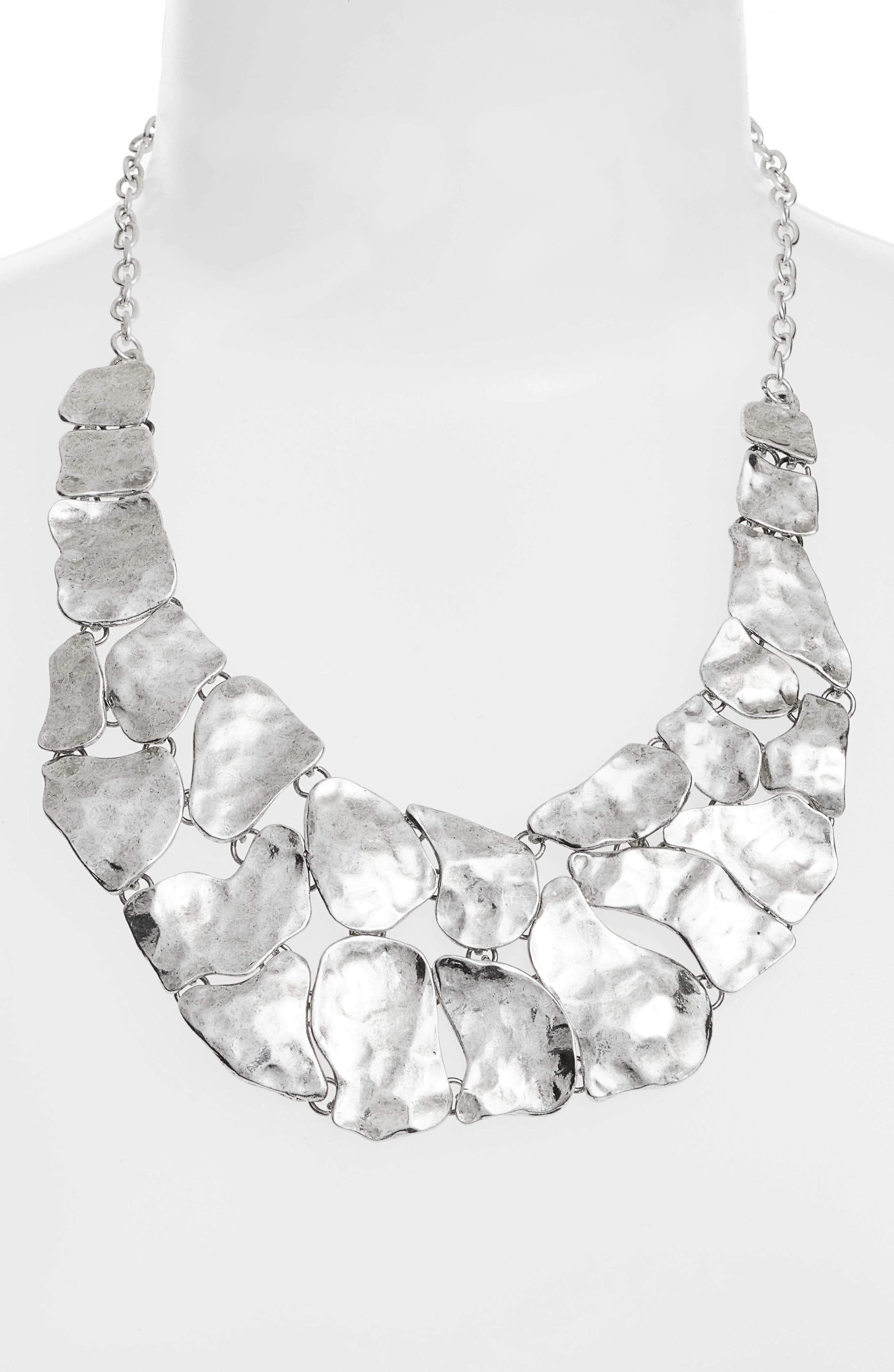 KARINE SULTAN,                             Alice Statement Necklace,                             Alternate thumbnail 2, color,                             SILVER