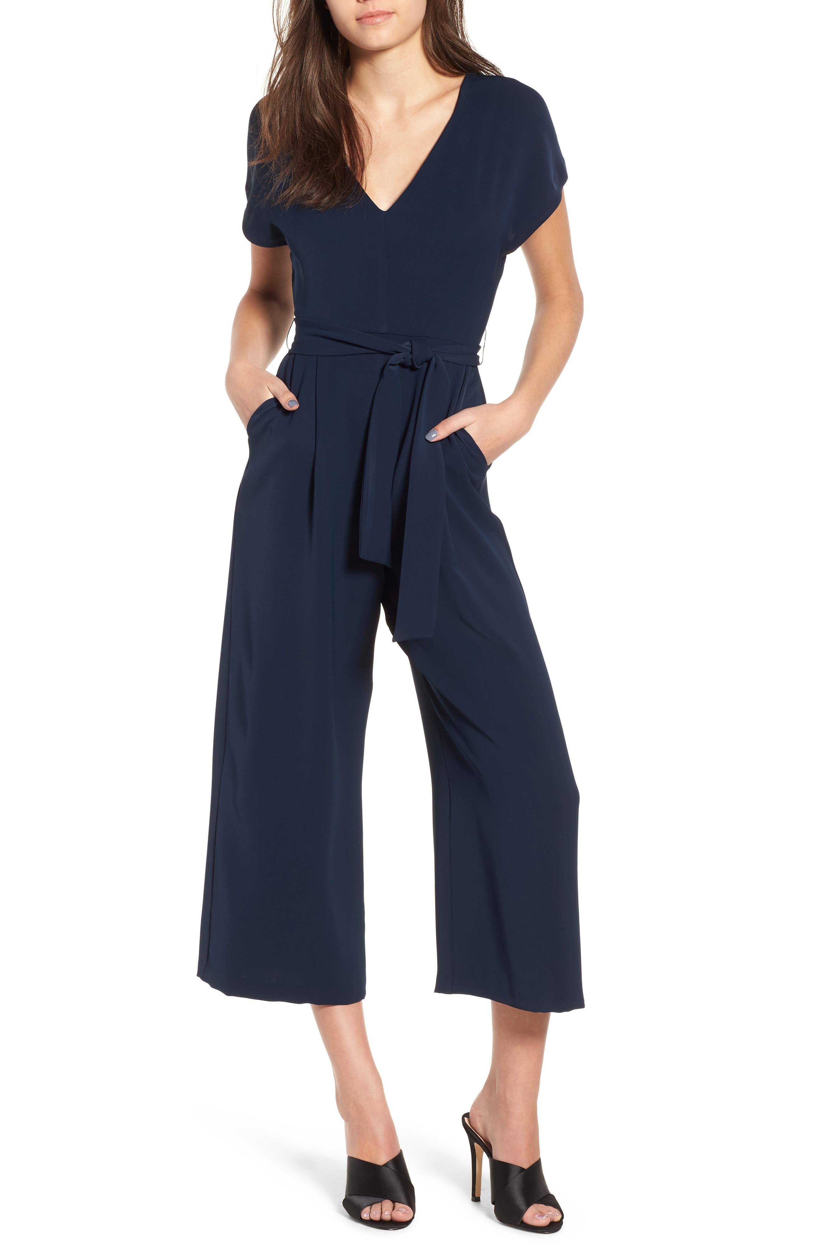 Belted Jumpsuit,                             Main thumbnail 1, color,                             400