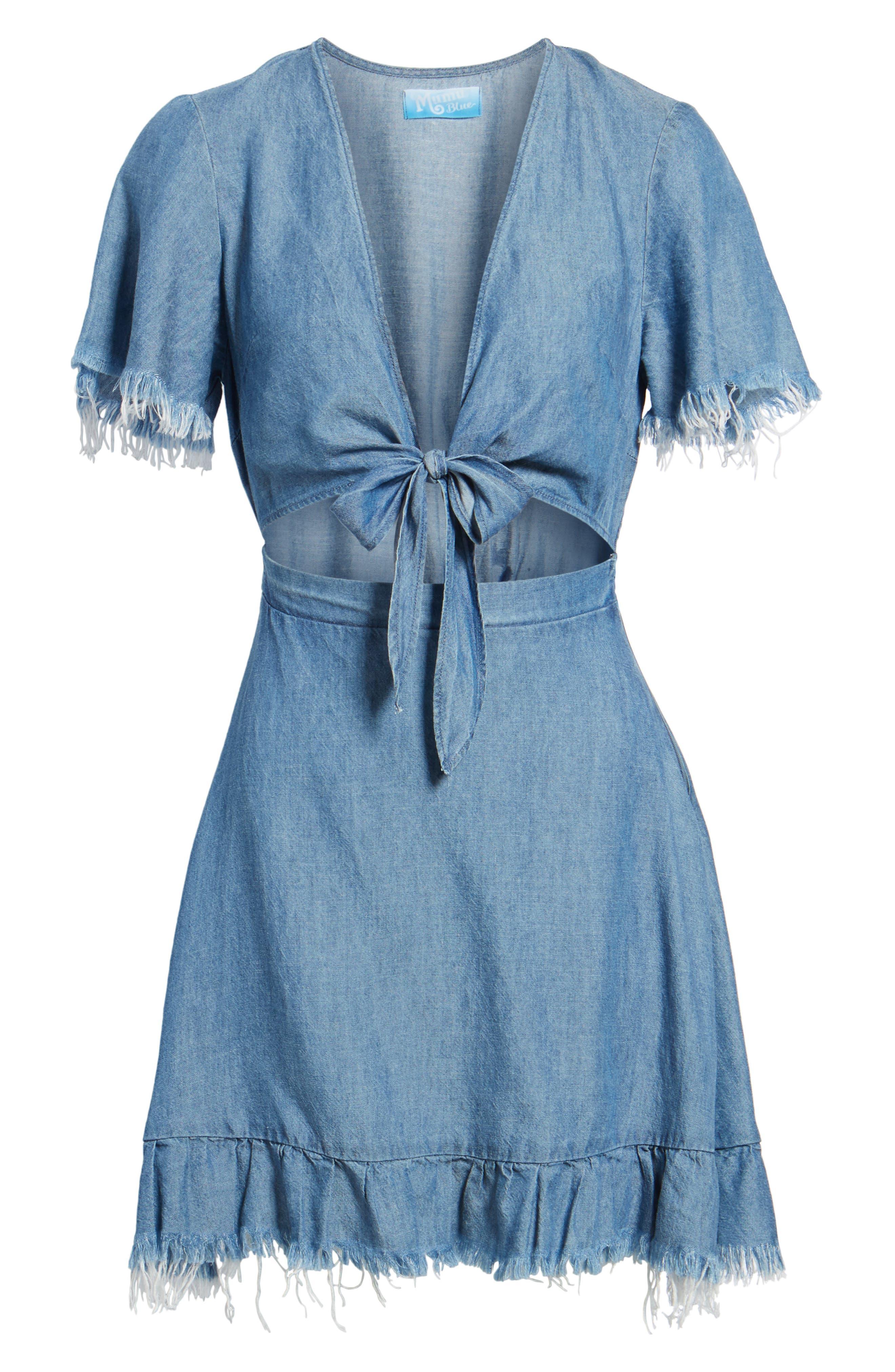 Melanie Ruffle Minidress,                             Alternate thumbnail 6, color,                             400