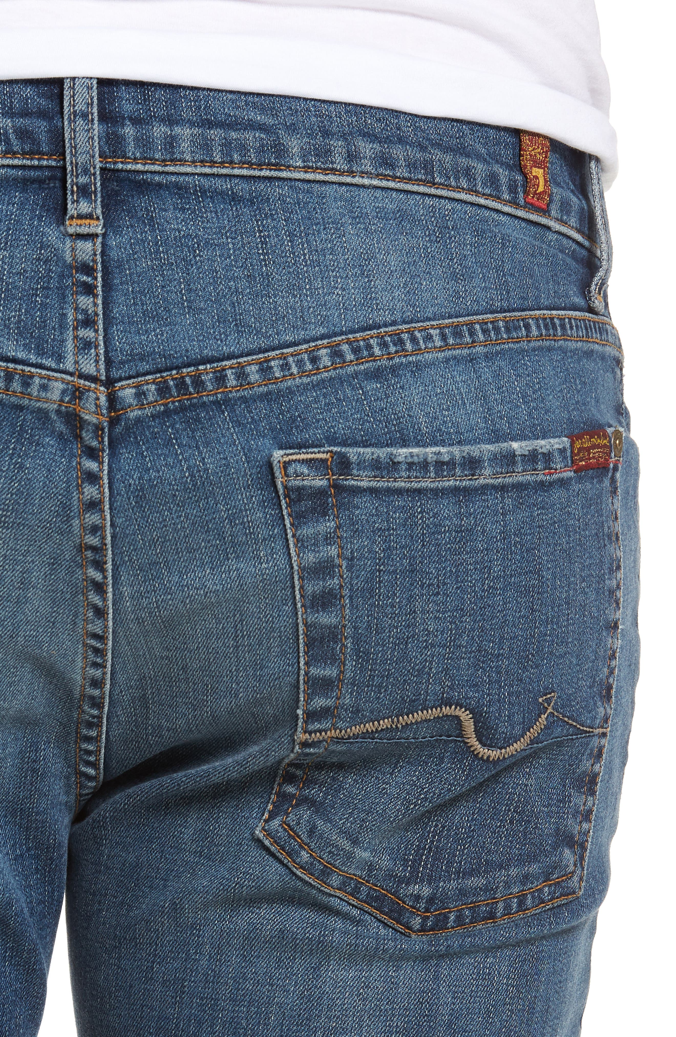 Standard Straight Leg Jeans,                             Alternate thumbnail 4, color,                             BEDROCK