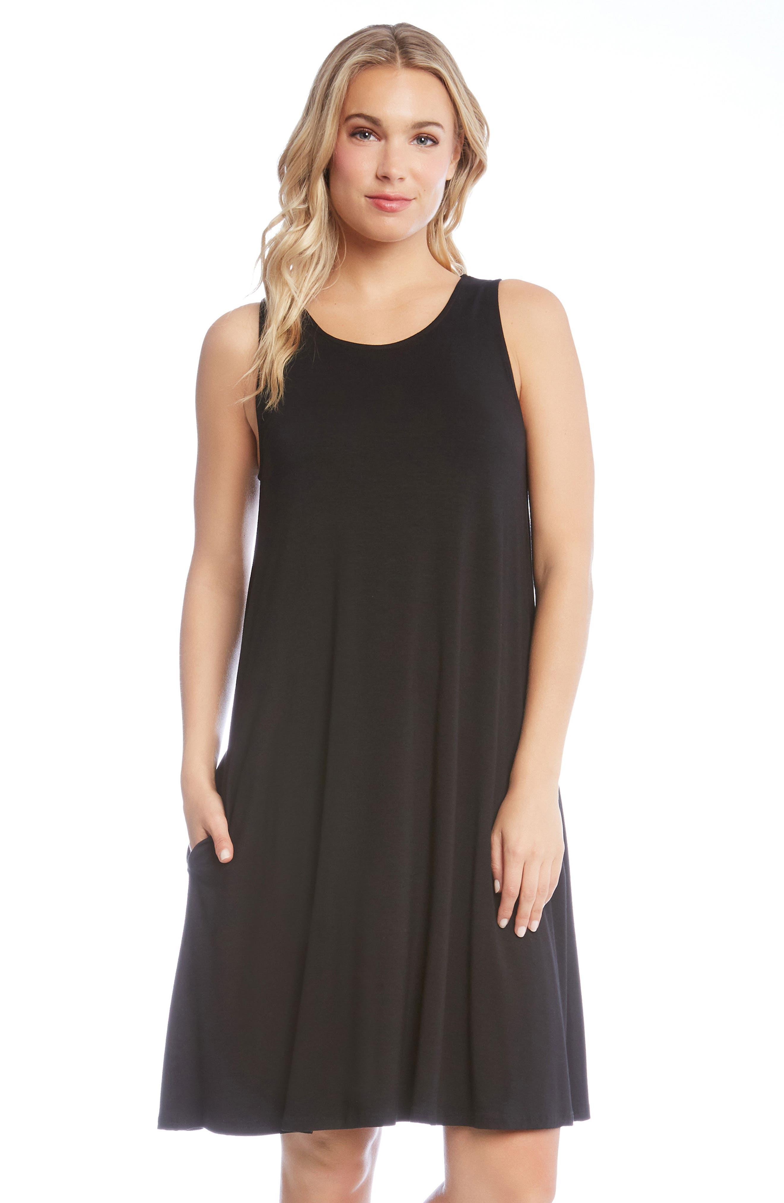 Chloe Swing Jersey Dress,                             Alternate thumbnail 3, color,                             001