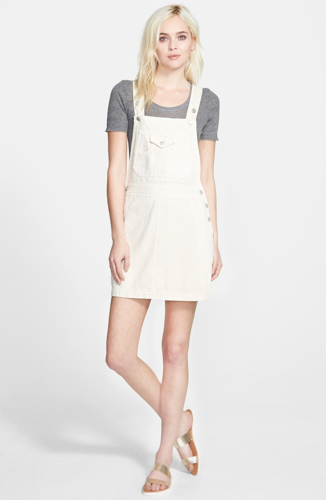 Alexa Chung for AG 'The Gillian' Overalls Dress,                             Main thumbnail 1, color,                             100