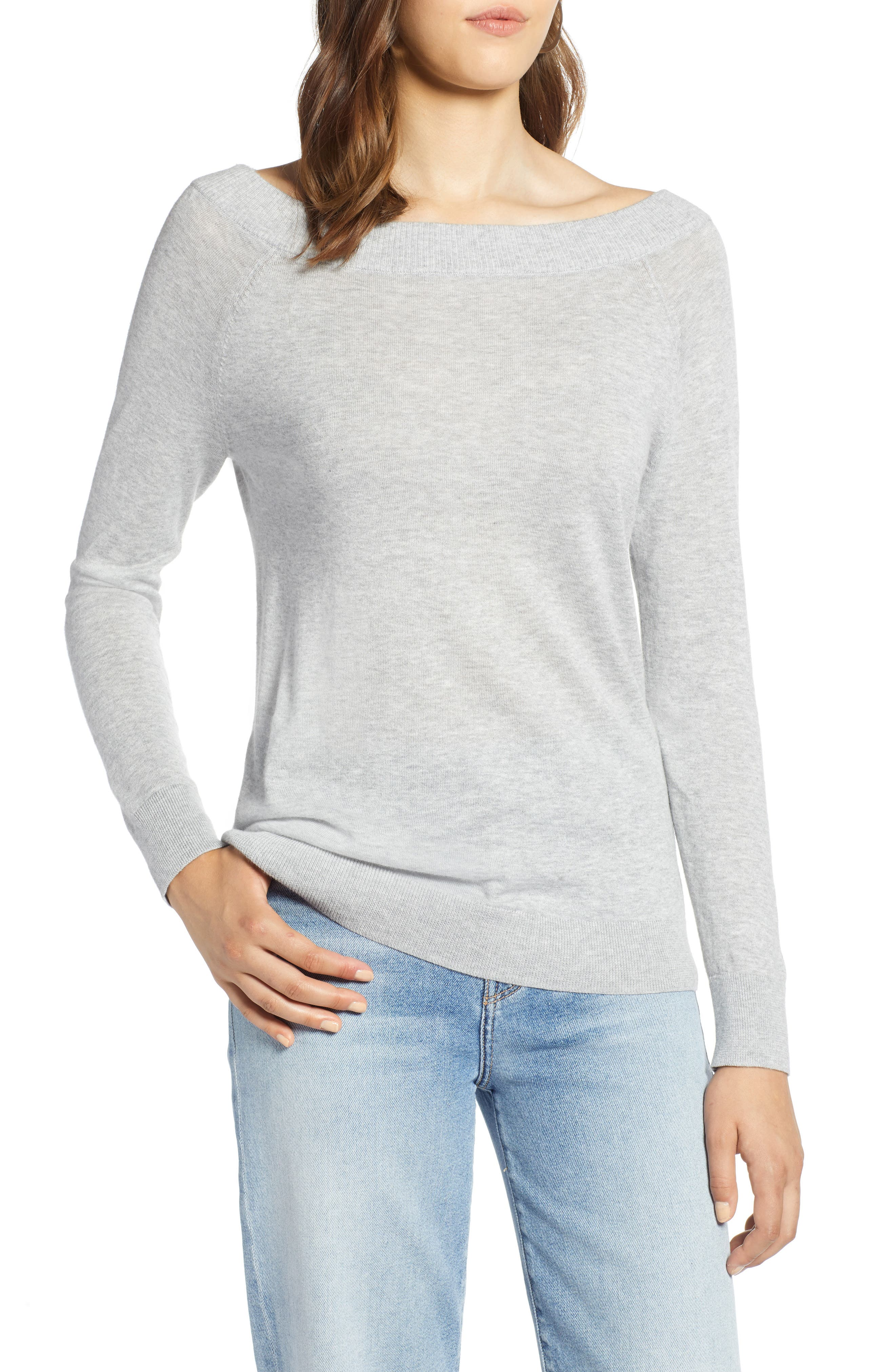 Convertible Bateau Neck Sweater,                             Main thumbnail 2, color,
