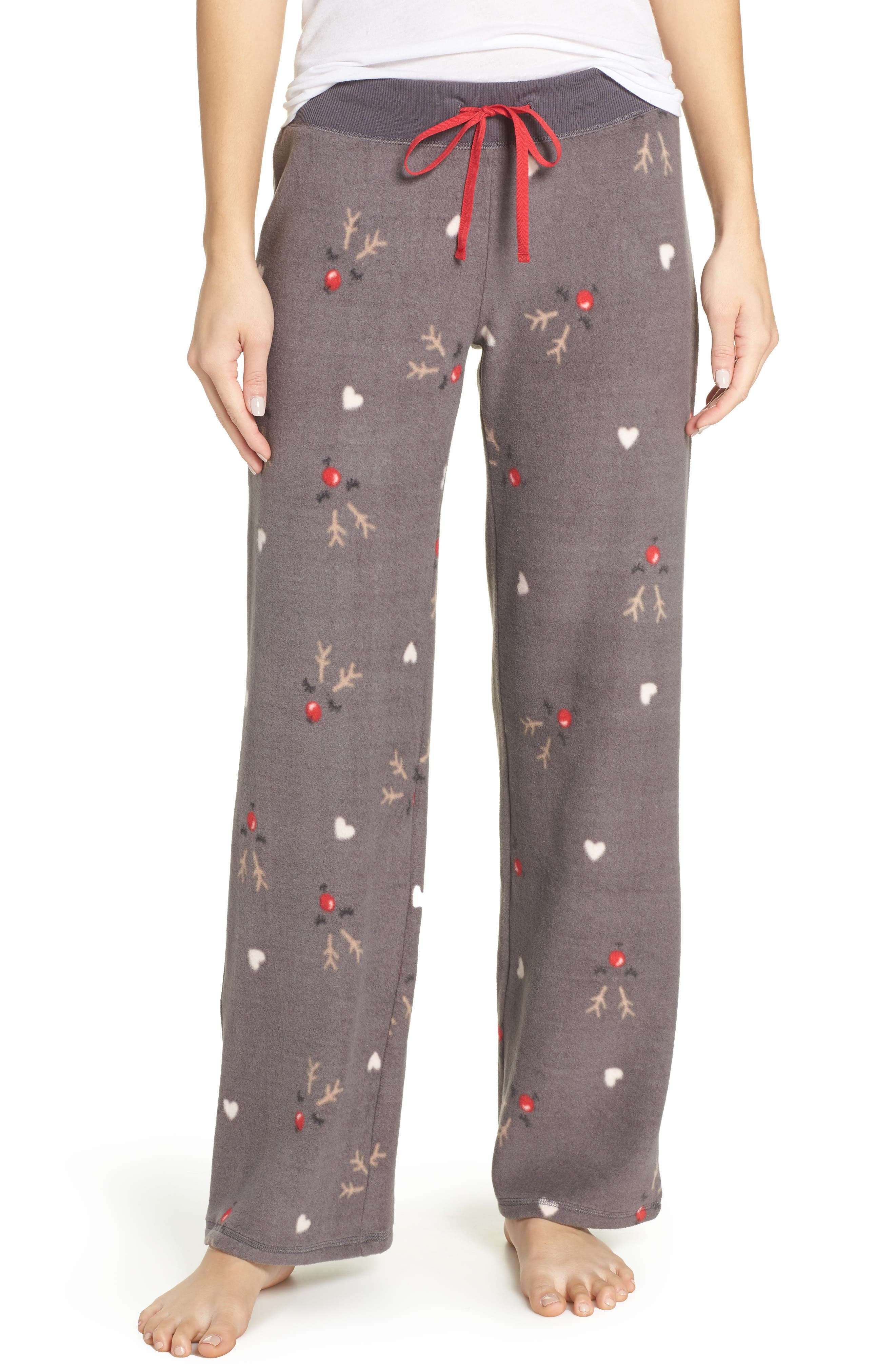 Fleece Pajama Pants, Main, color, 022
