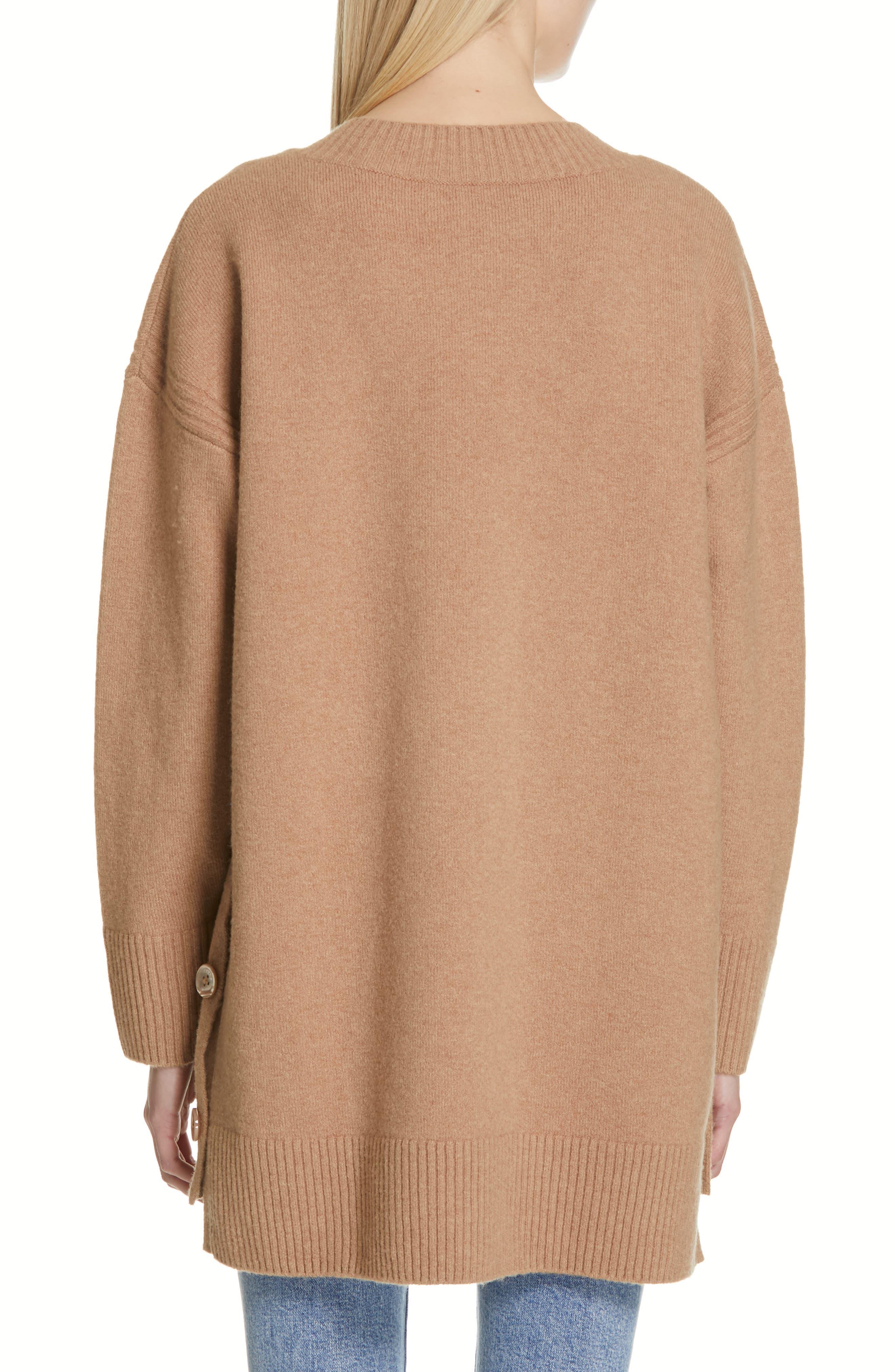 Cortis Merino Wool & Alpaca Blend Sweater,                             Alternate thumbnail 2, color,                             CAMEL