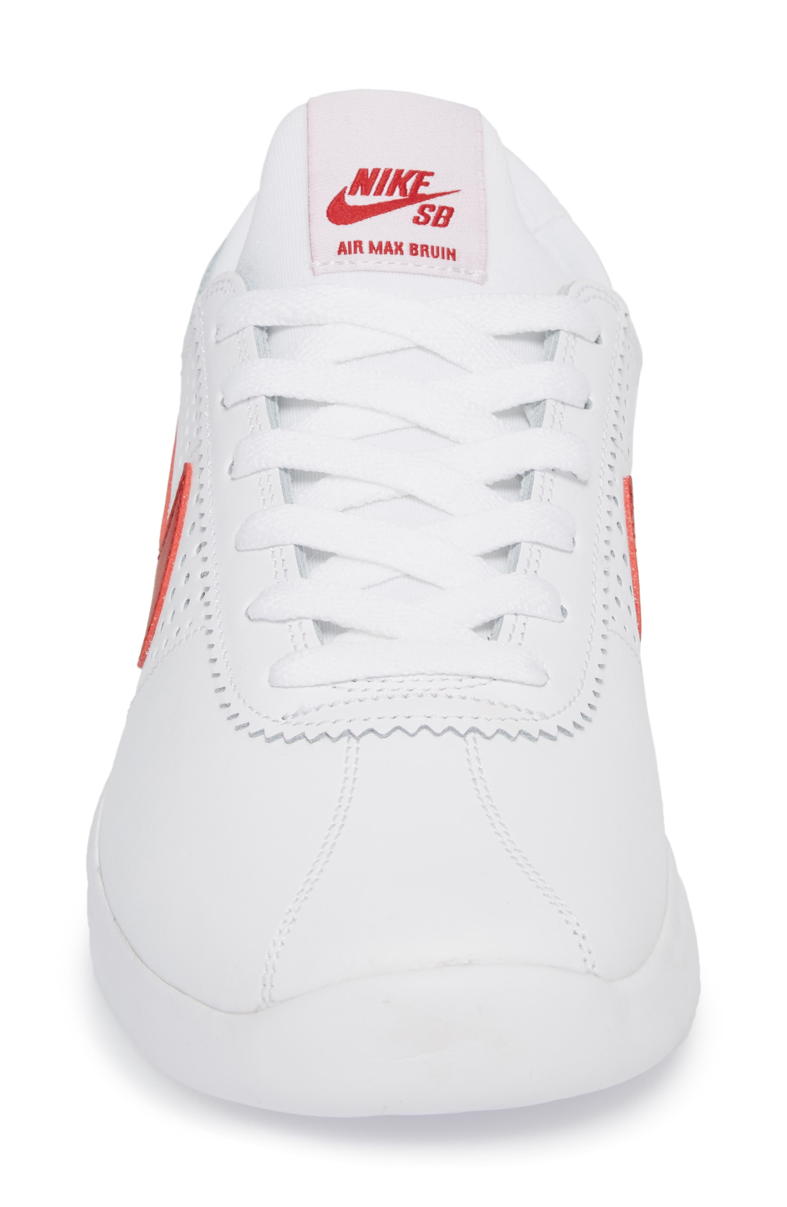 SB Air Max Bruin Vapor Skateboarding Sneaker,                             Alternate thumbnail 4, color,                             100