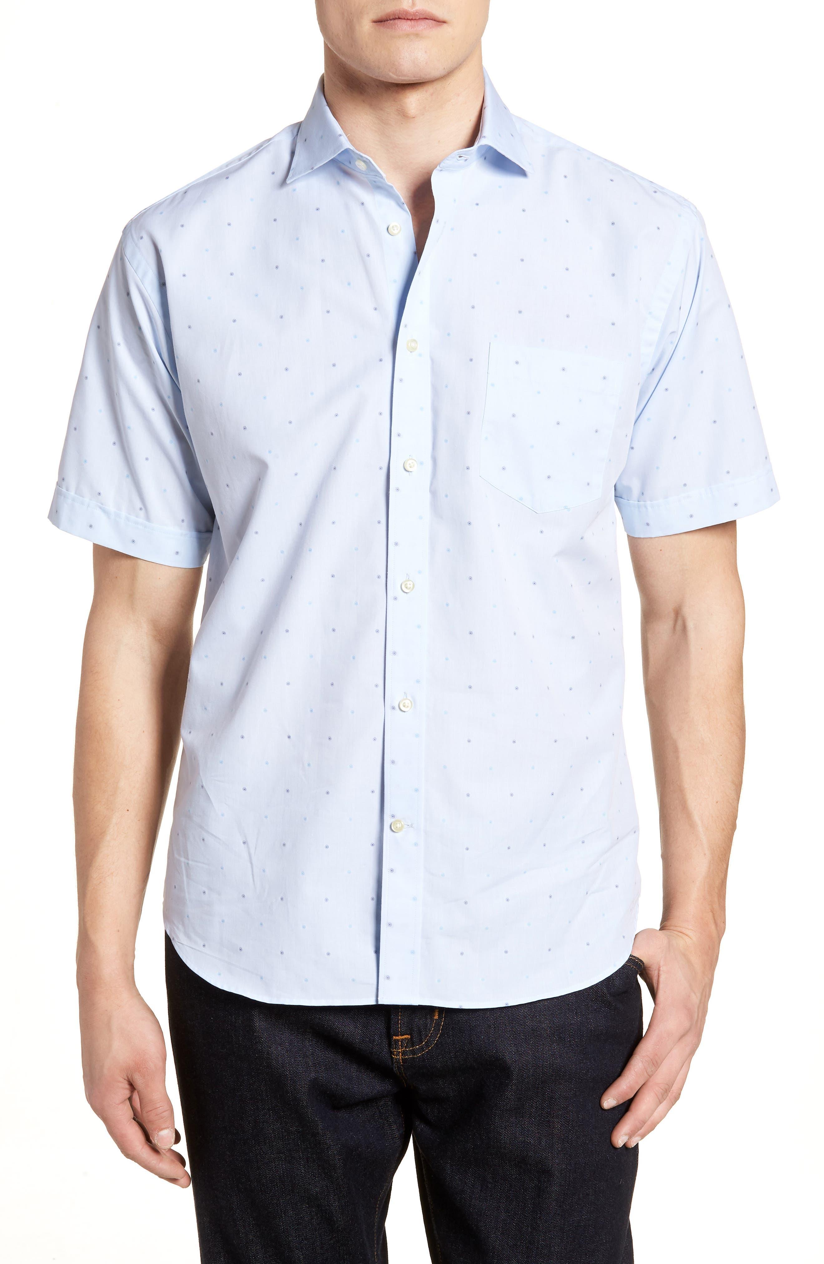 Regular Fit Dot Sport Shirt,                         Main,                         color,