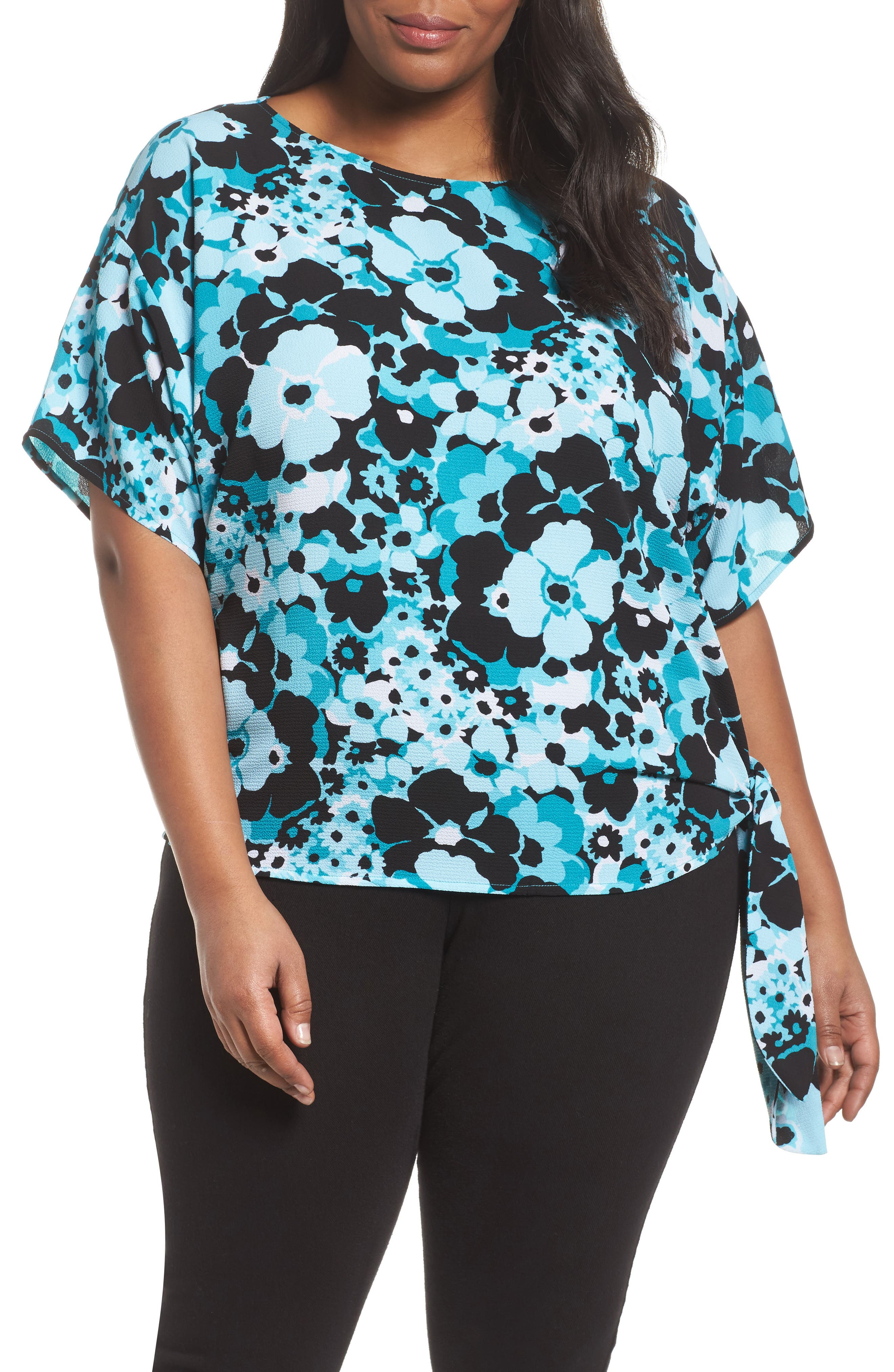 Spring Side Tie Crepe Top,                             Main thumbnail 1, color,                             494