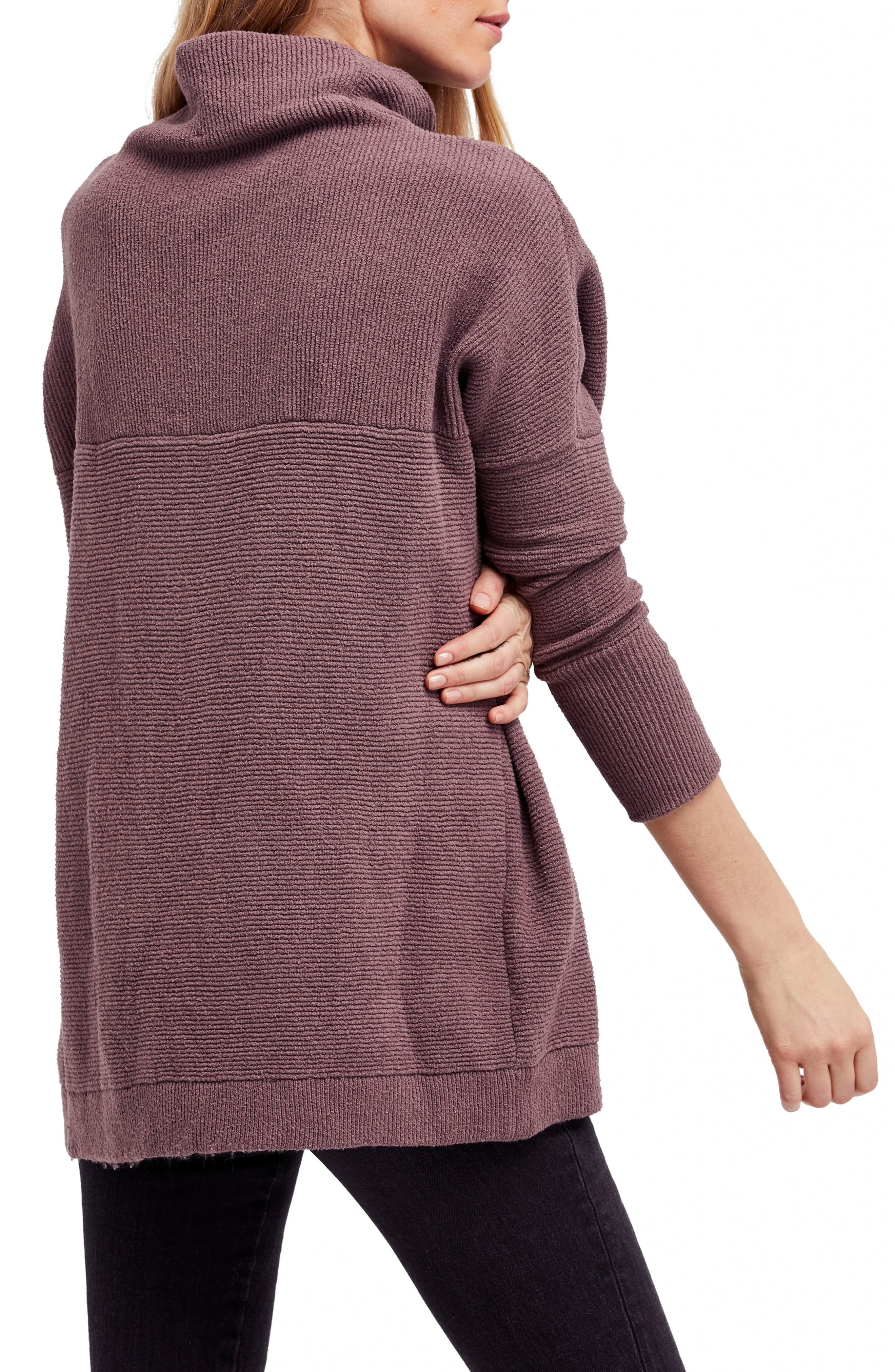 FREE PEOPLE,                             Ottoman Slouchy Tunic,                             Alternate thumbnail 2, color,                             MINK