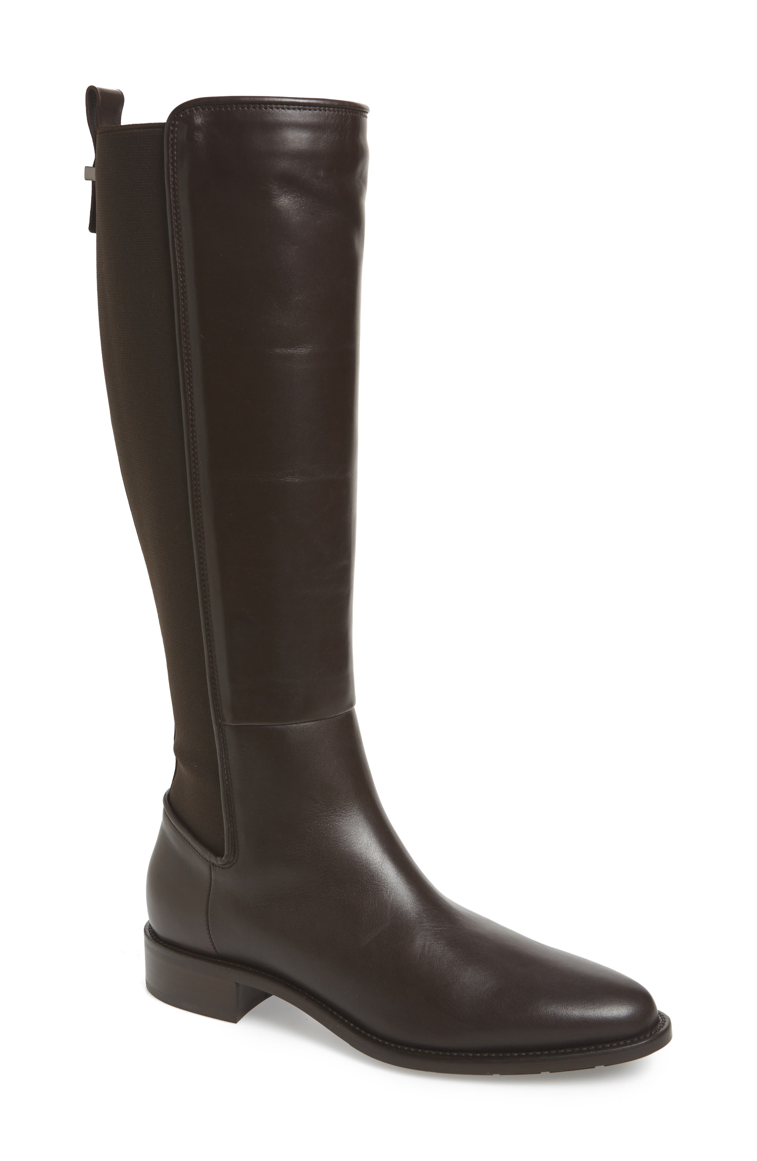 AQUATALIA Women'S Nastia Weatherproof Low-Heel Riding Boots in Black