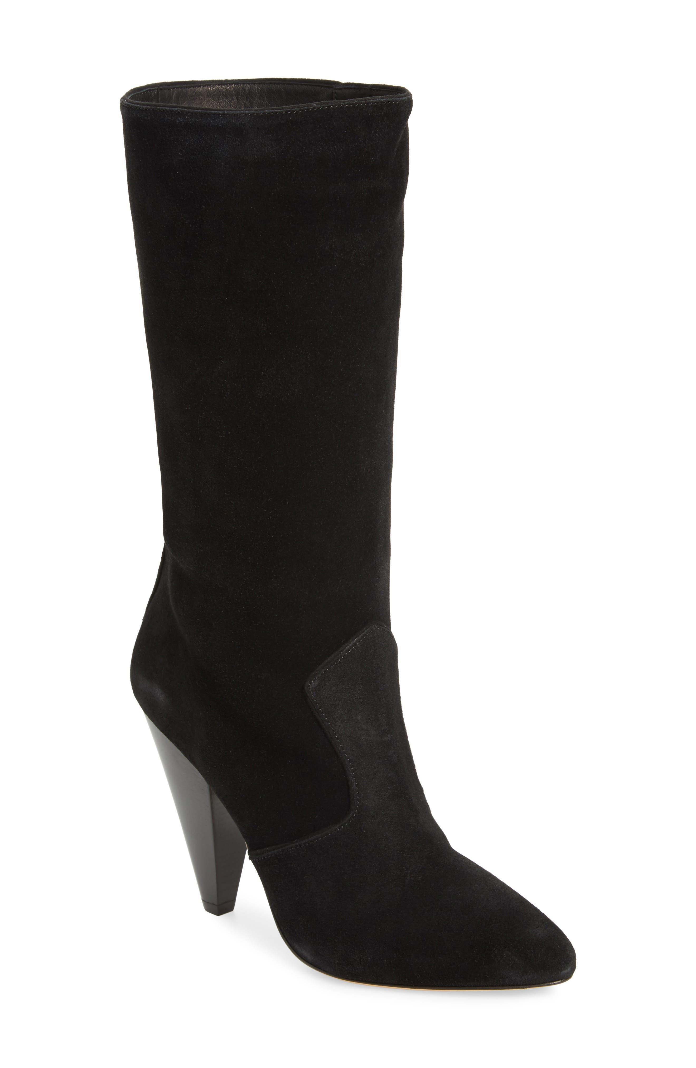 Olivia Genuine Calf Hair Boot,                         Main,                         color, 001