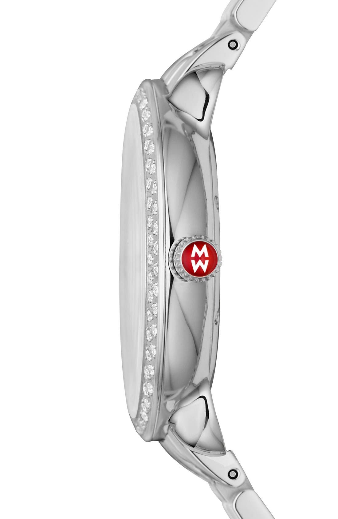 Serein 16 Diamond Diamond Fan Dial Watch Case, 36mm x 34mm,                             Alternate thumbnail 5, color,