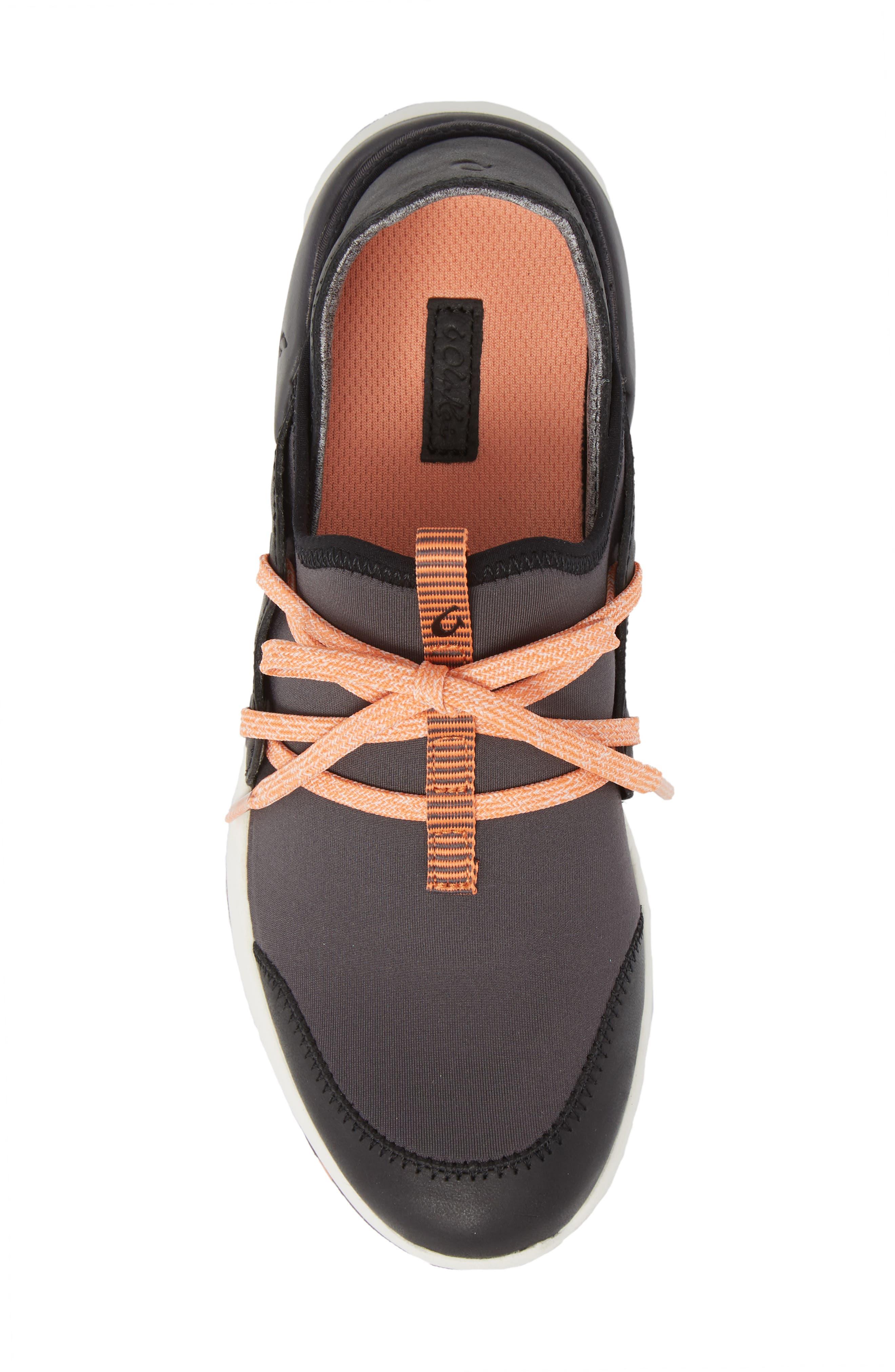Miki Li Convertible Sneaker,                             Alternate thumbnail 5, color,                             PAVEMENT/ BLACK FABRIC