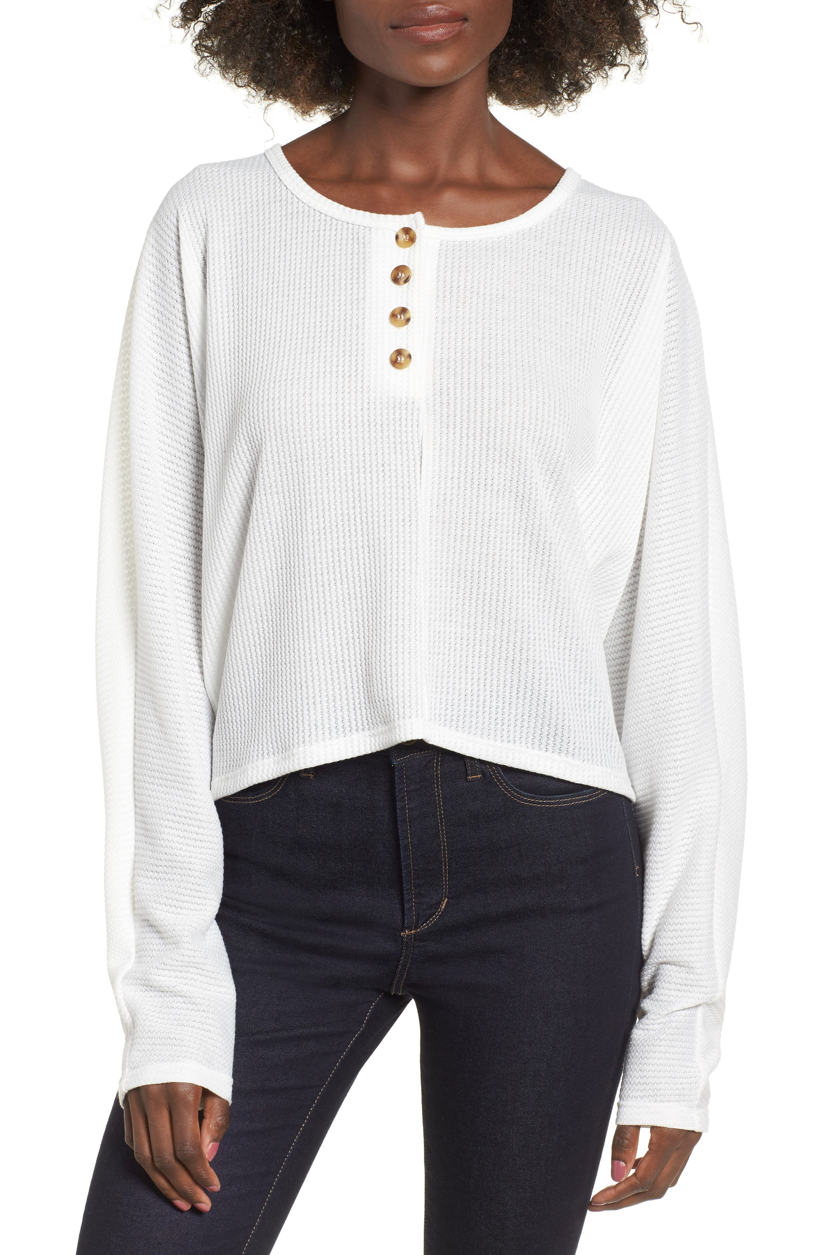 Dolman Henley,                         Main,                         color, OFF WHITE