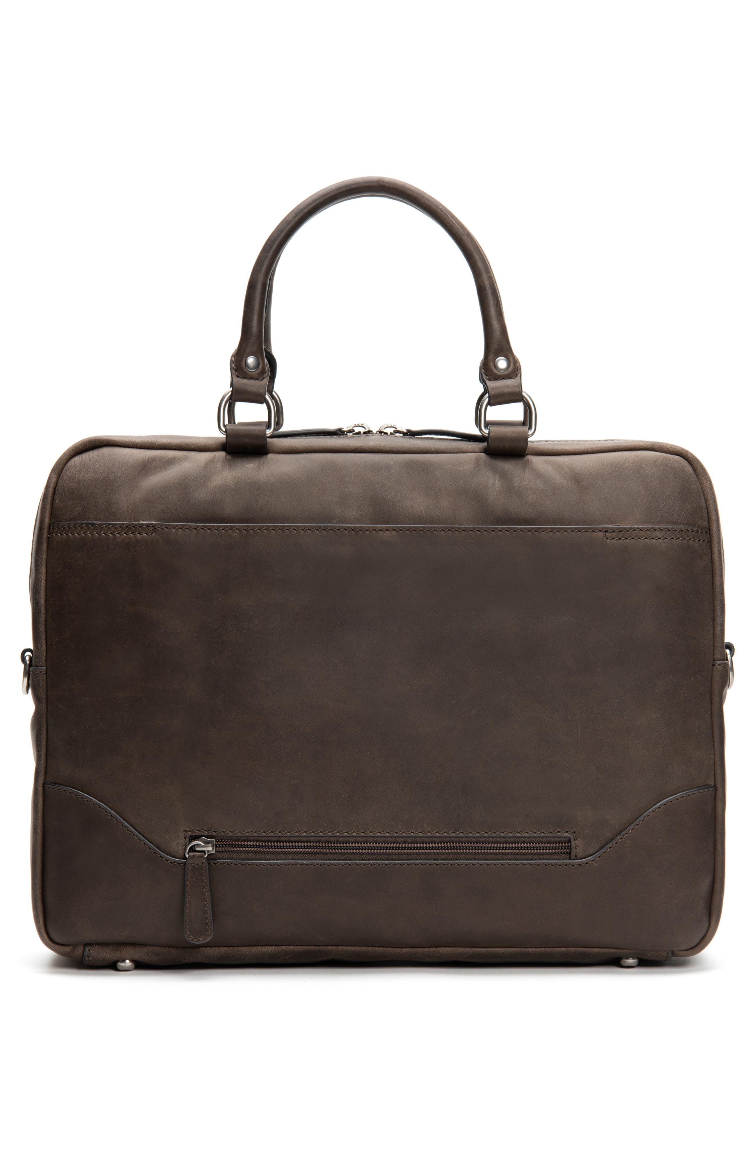 Logan Leather Briefcase,                             Alternate thumbnail 3, color,                             SLATE