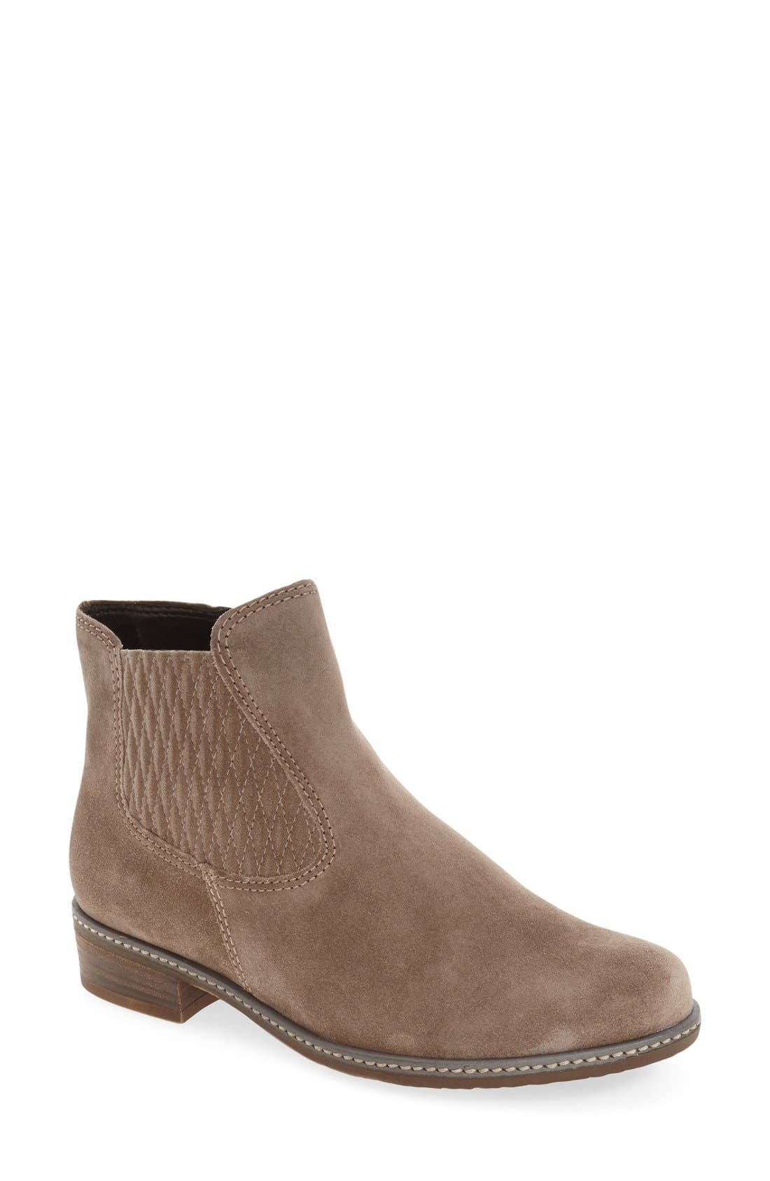 Chelsea Boot,                             Main thumbnail 1, color,                             GREY LEATHER