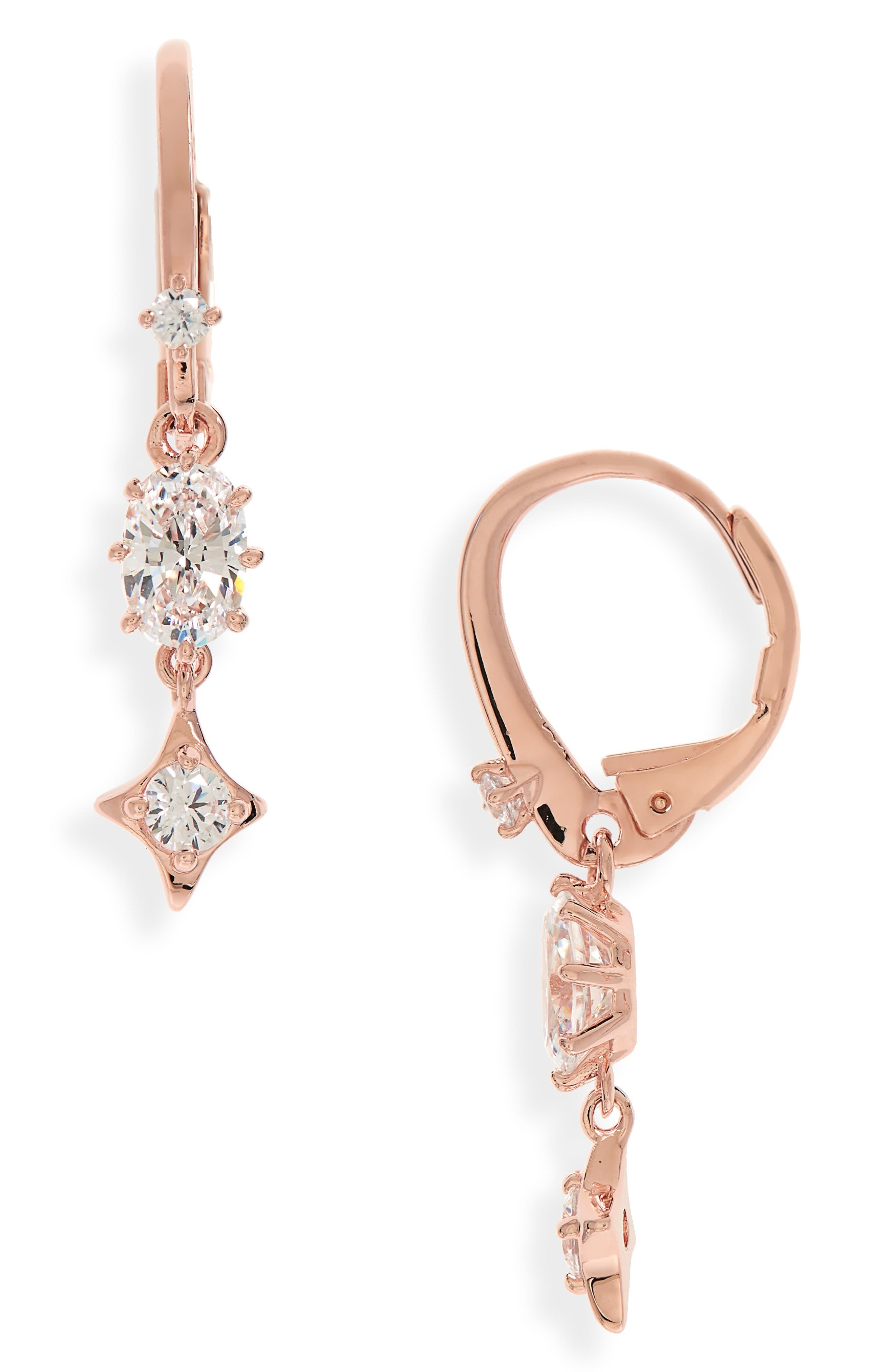 Boho Cubic Zirconia Drop Earrings,                             Main thumbnail 2, color,