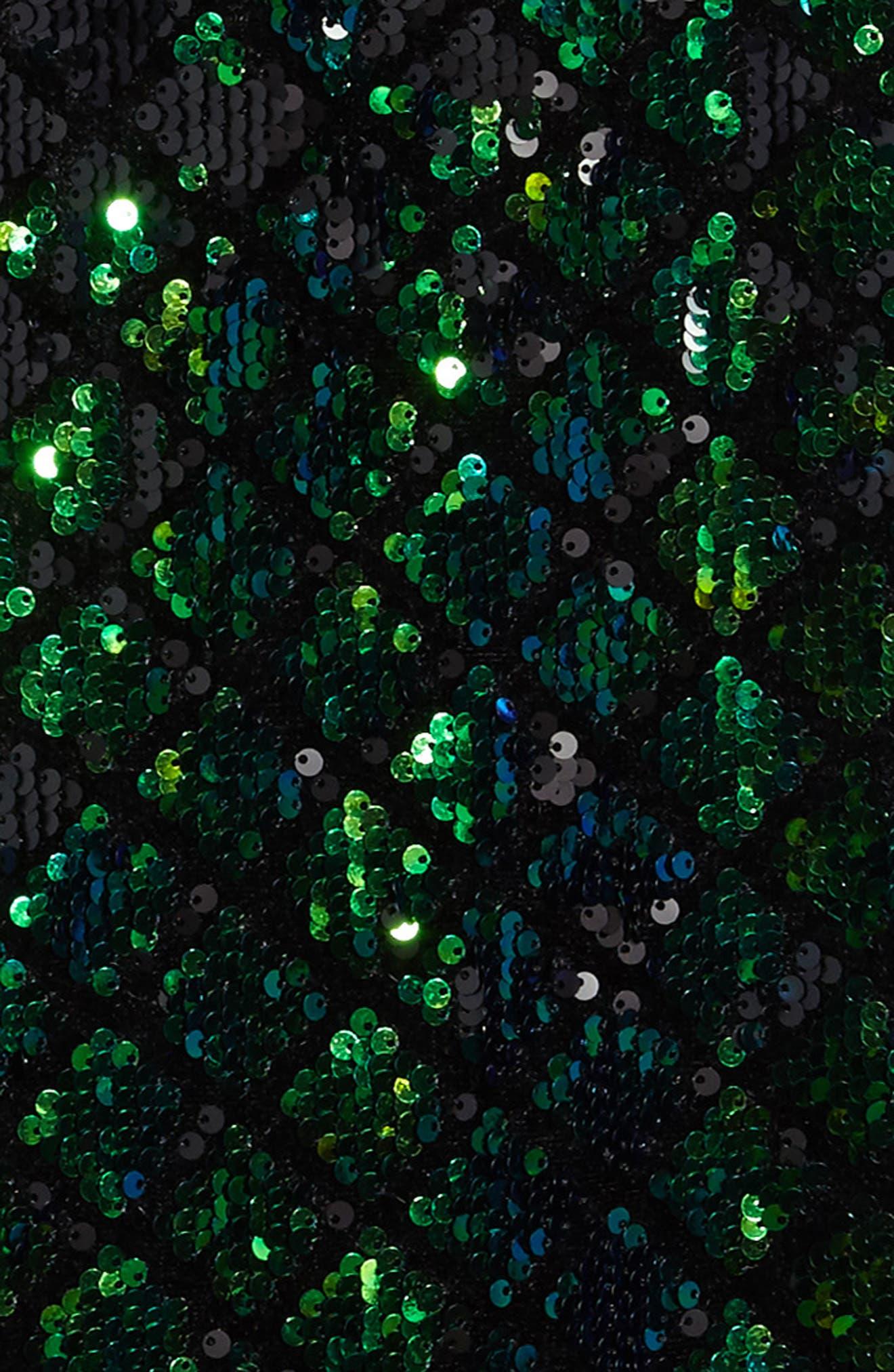 Mermaid Sequin Shift Dress,                             Alternate thumbnail 3, color,                             440