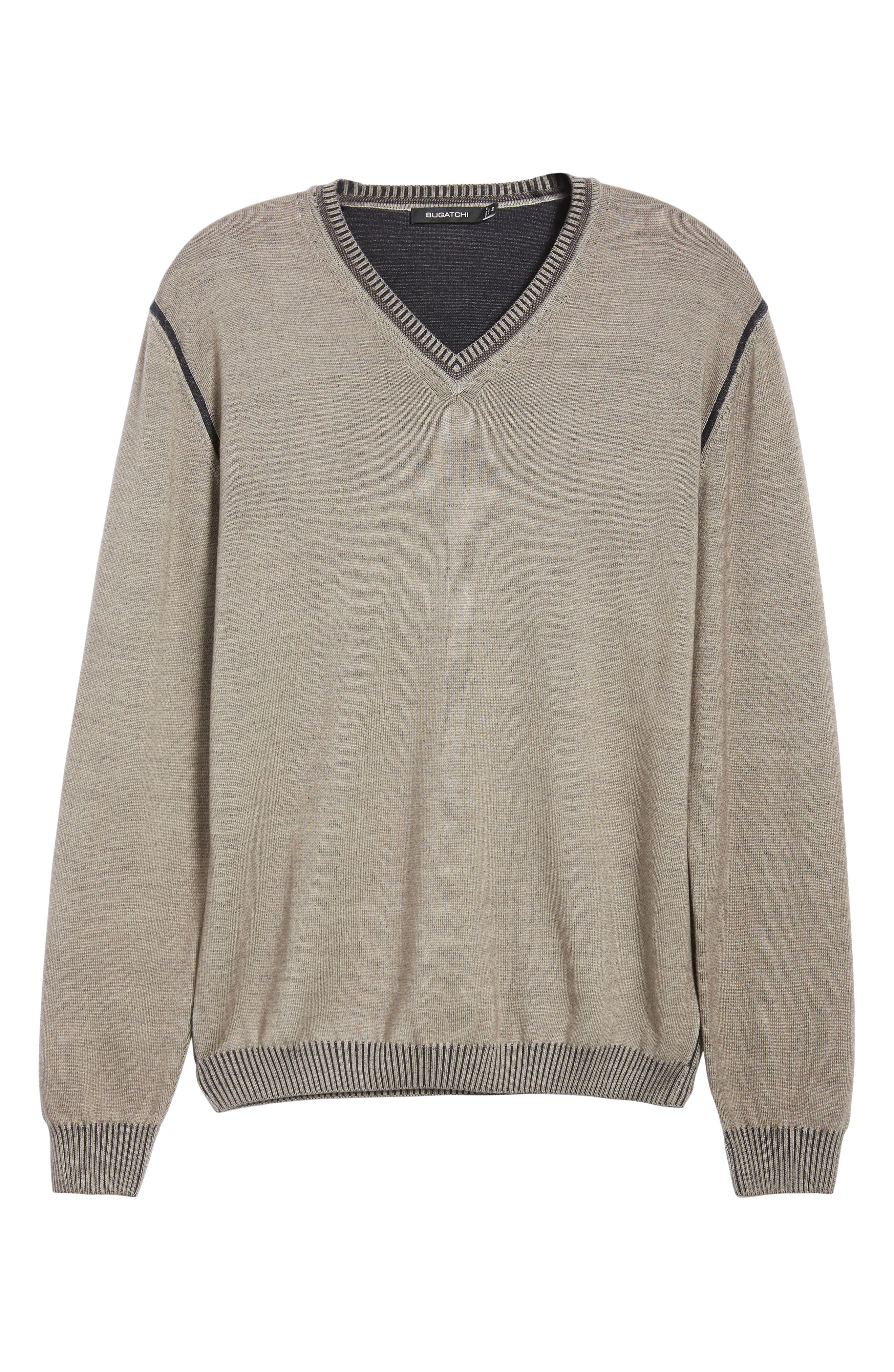 Wool Blend Sweater,                             Alternate thumbnail 6, color,                             TAUPE