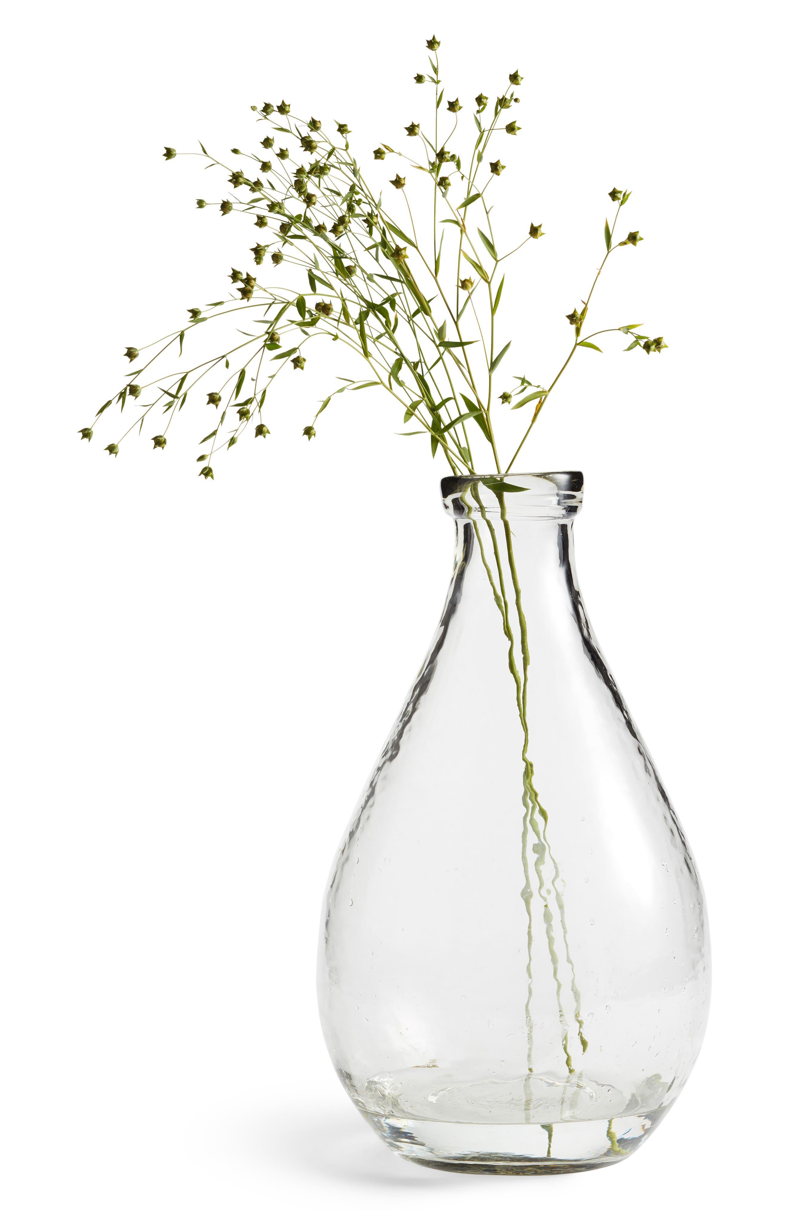 Glass Vase,                             Main thumbnail 1, color,                             CLEAR