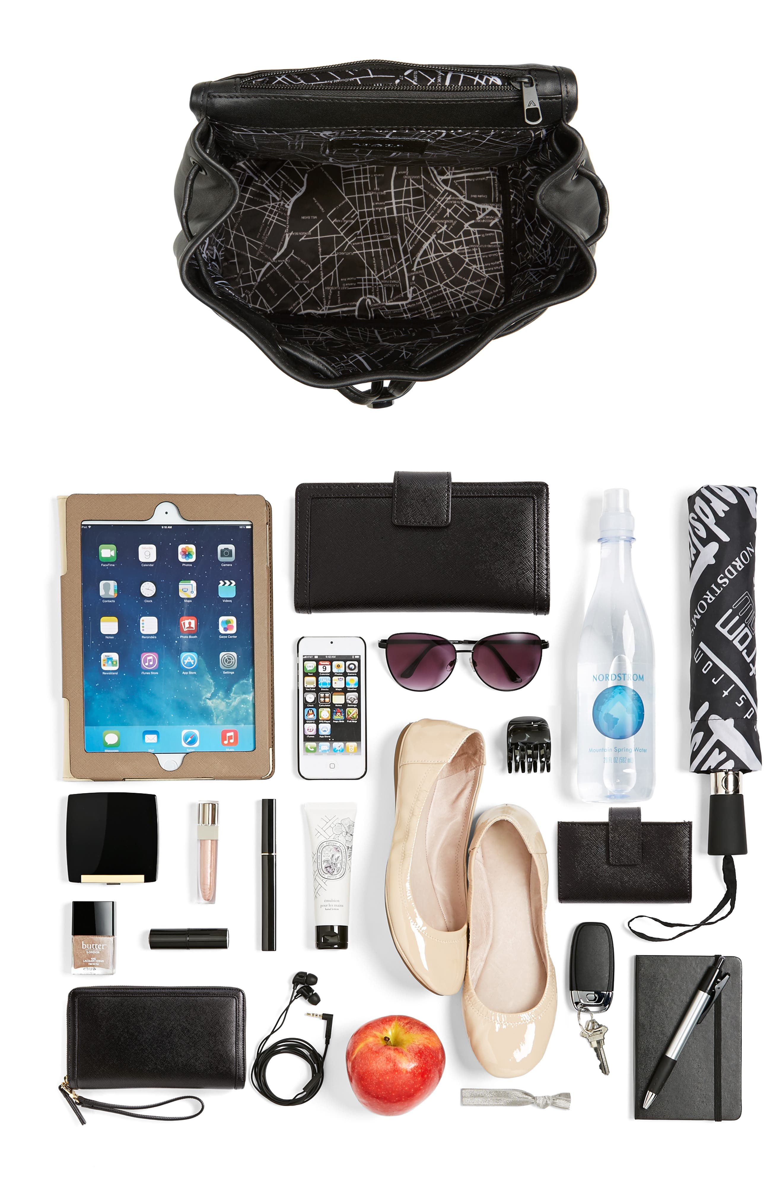 Parkville Hattie Leather Backpack,                             Alternate thumbnail 7, color,                             001