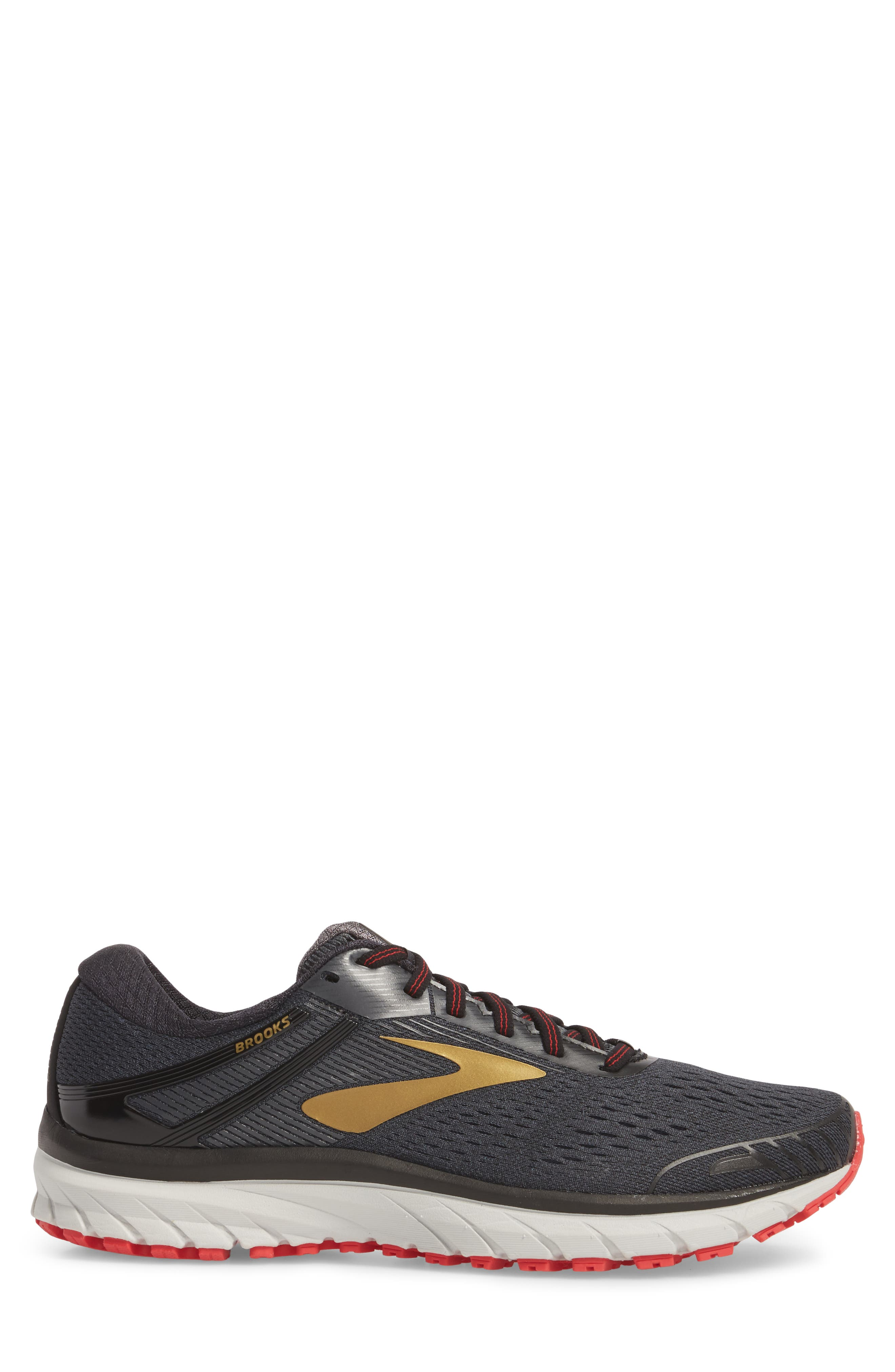 Adrenaline GTS 18 Running Shoe,                             Alternate thumbnail 3, color,                             BLACK/ GOLD/ RED